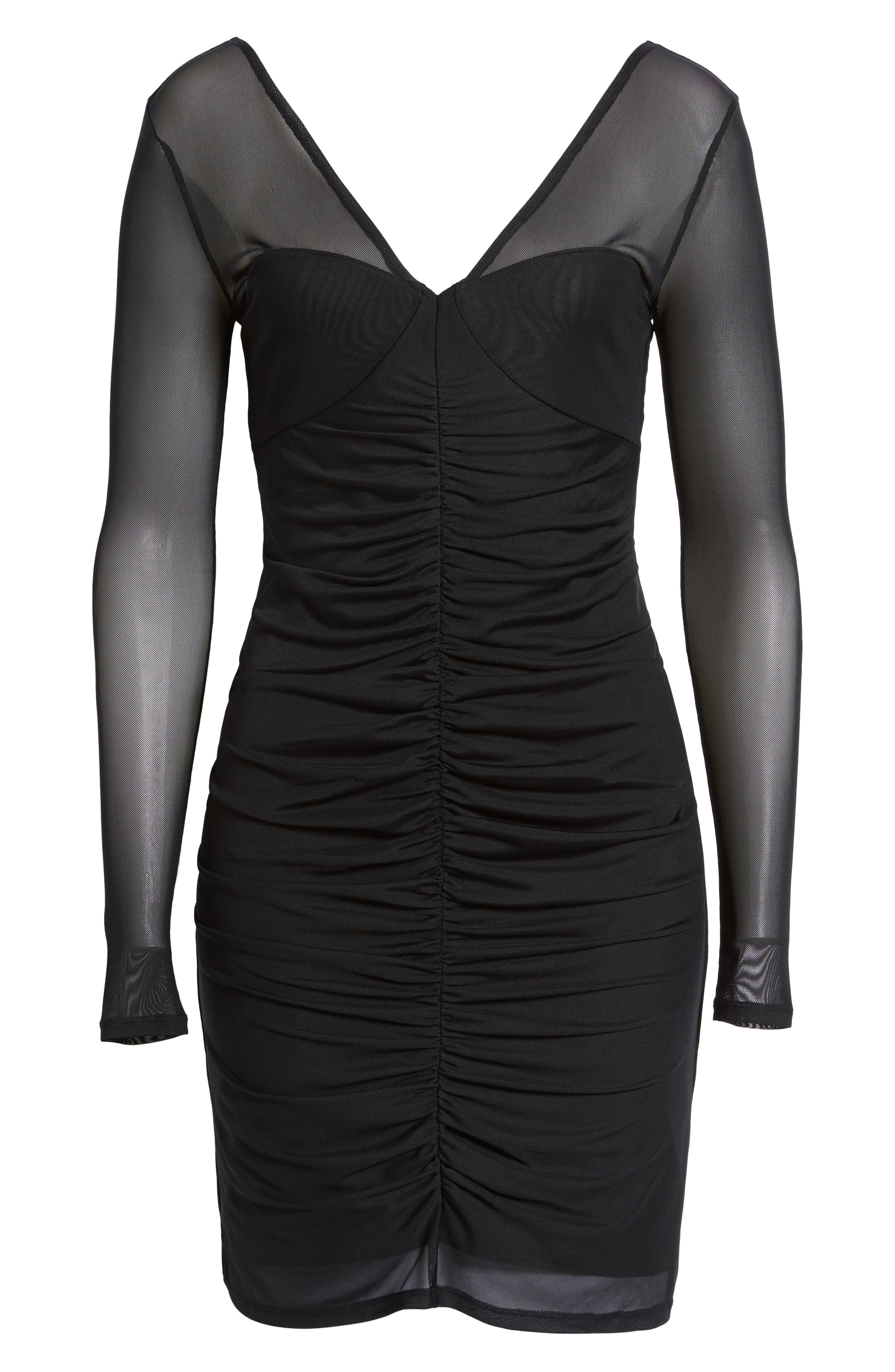 Body-Con Sheath Dress,                             Alternate thumbnail 6, color,                             Black