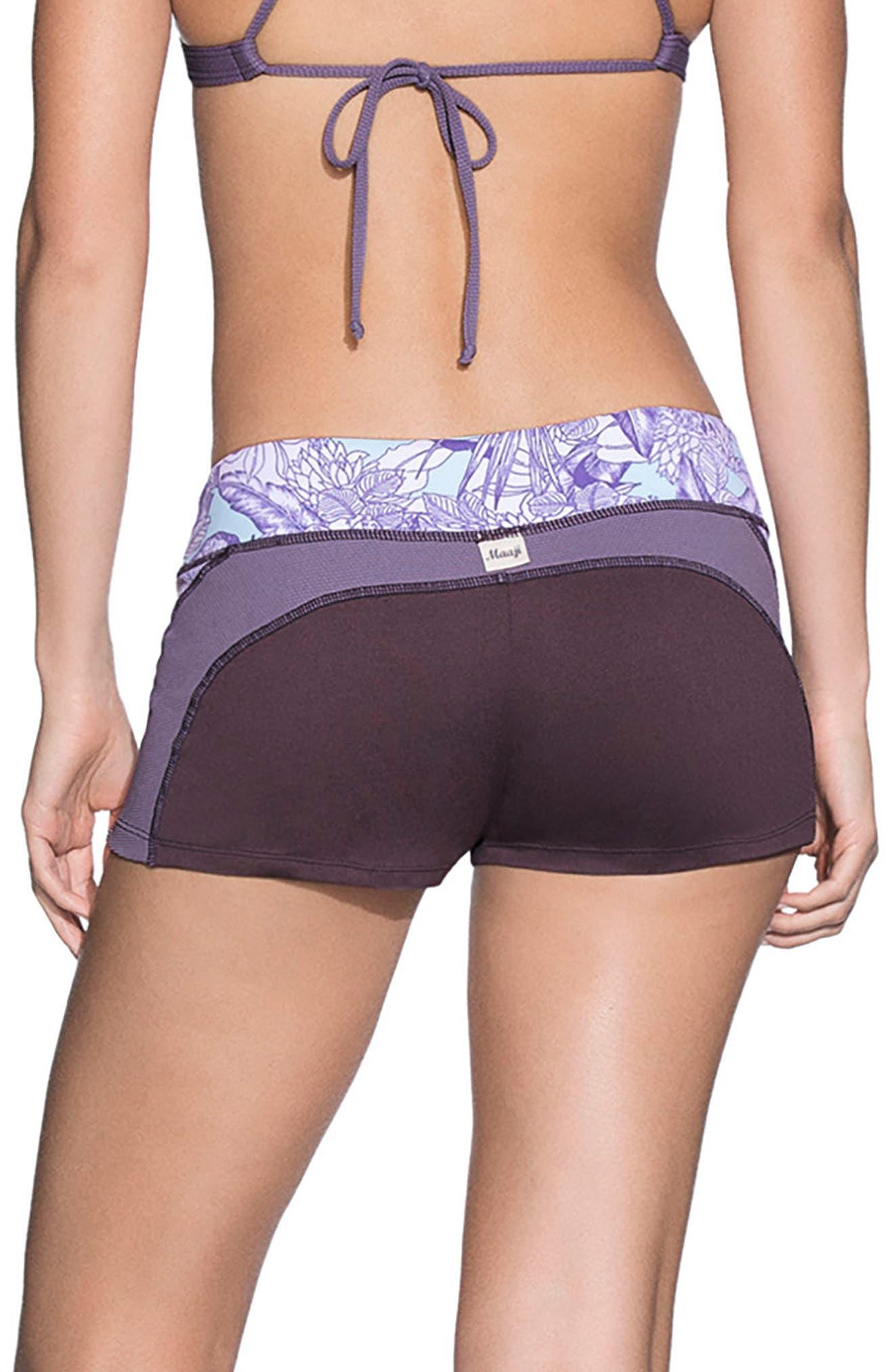 Exotic Beauty Surf Shorts,                             Alternate thumbnail 2, color,                             Purple Multi