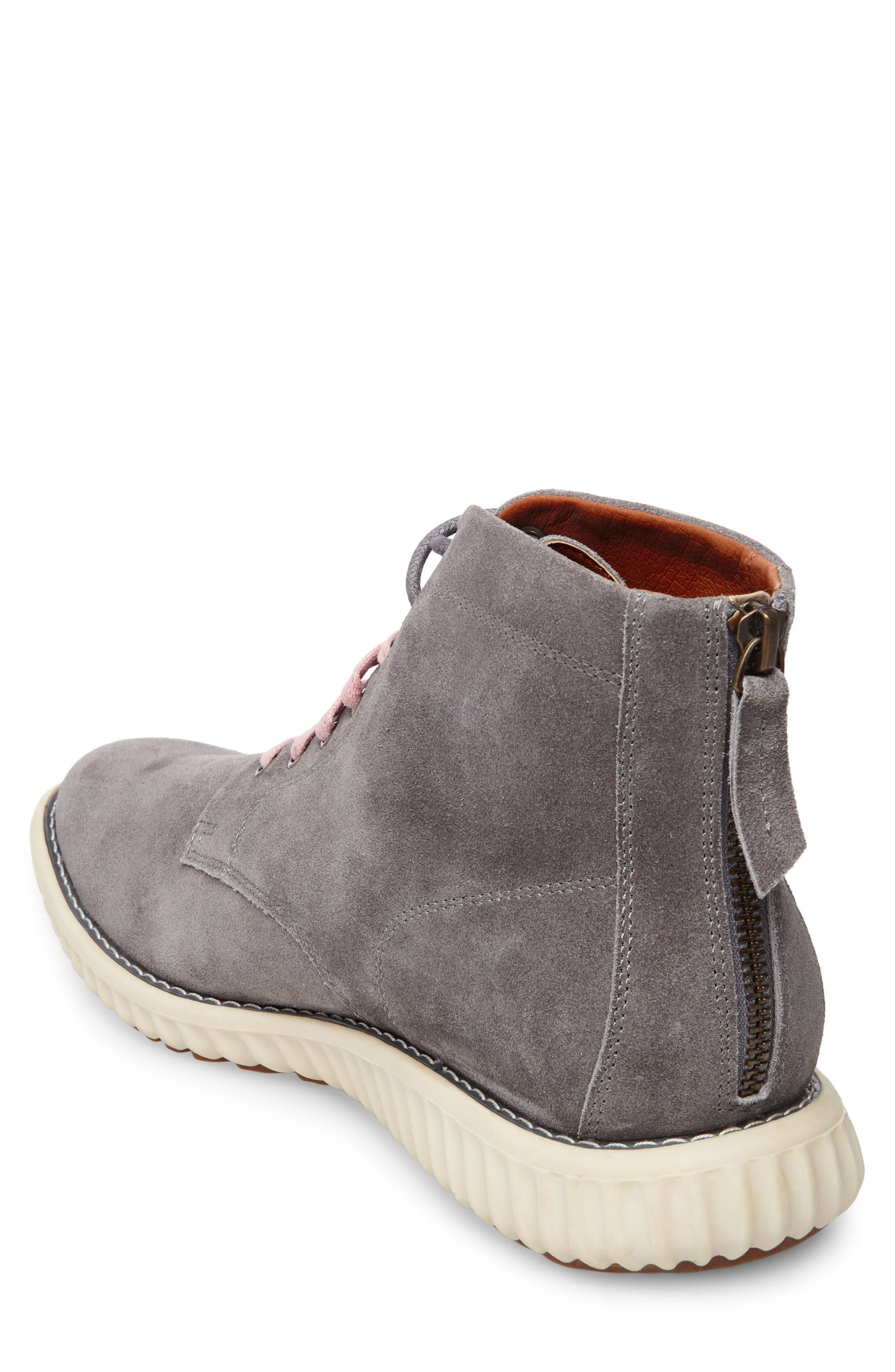 Verner Suede Plain Toe Boot,                             Alternate thumbnail 2, color,                             Dark Grey Suede