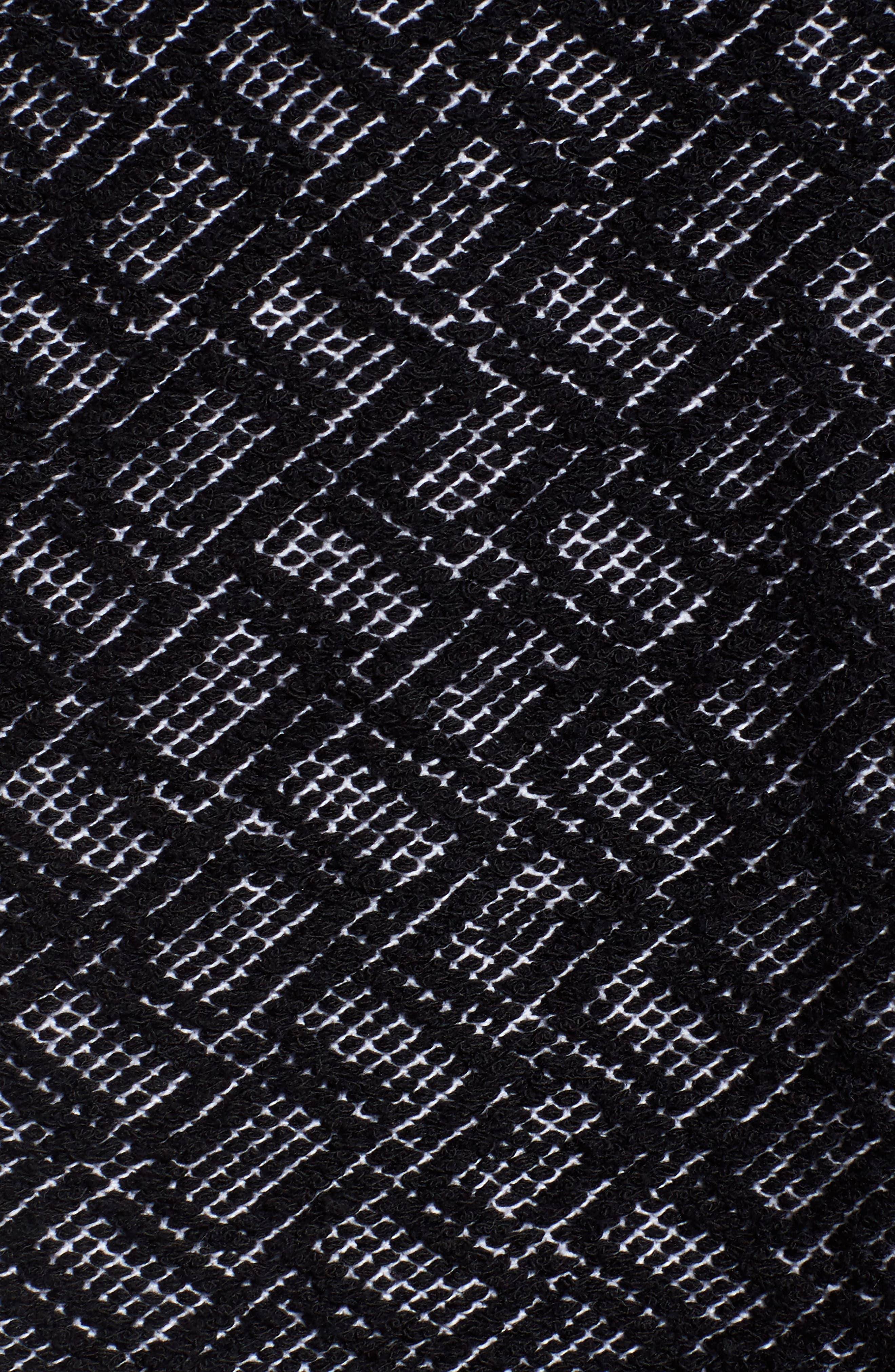 Funnel Neck Jacket,                             Alternate thumbnail 5, color,                             Black