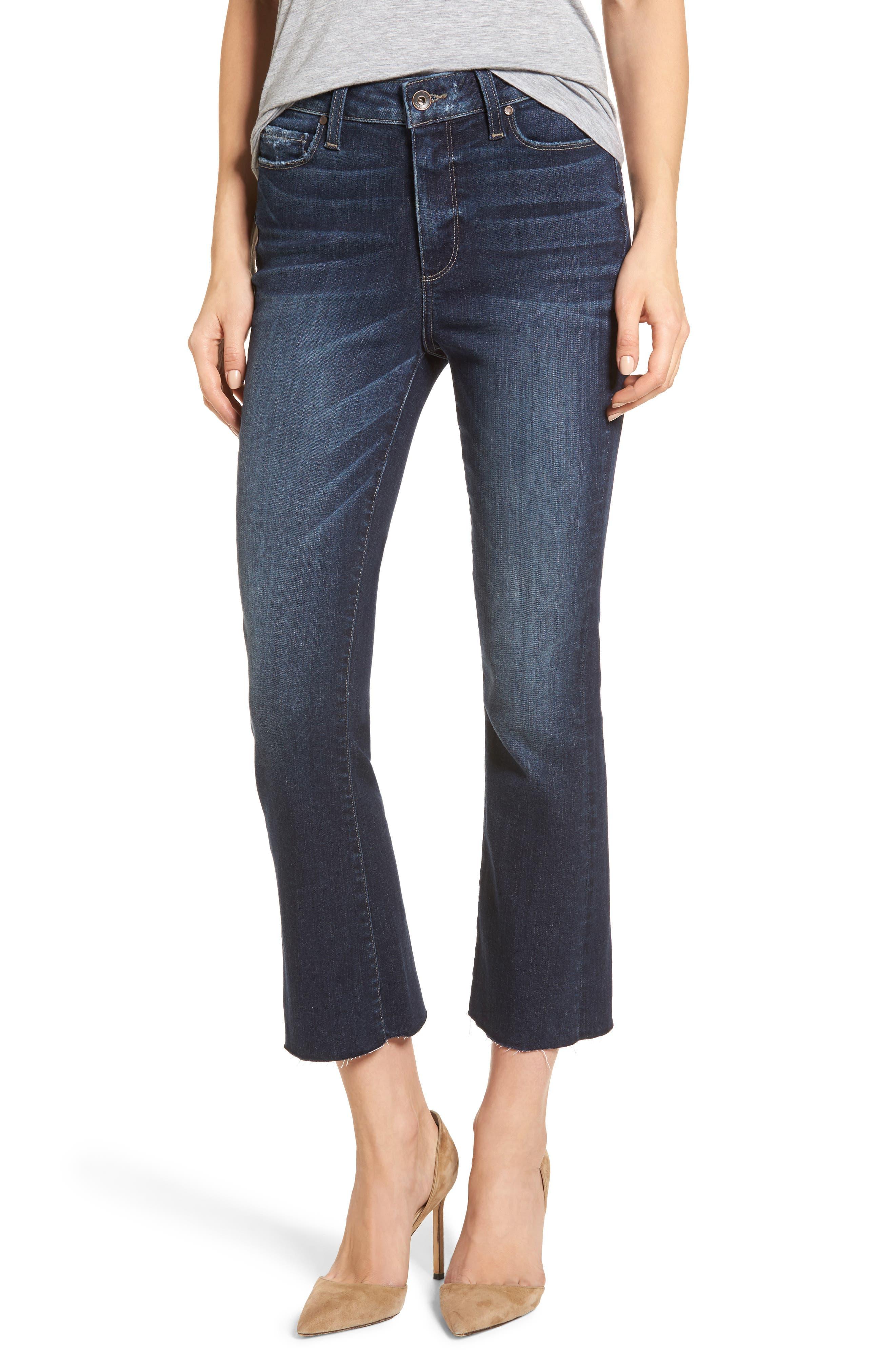 Transcend Vintage - Colette Crop Flare Jeans,                             Main thumbnail 1, color,                             Anza