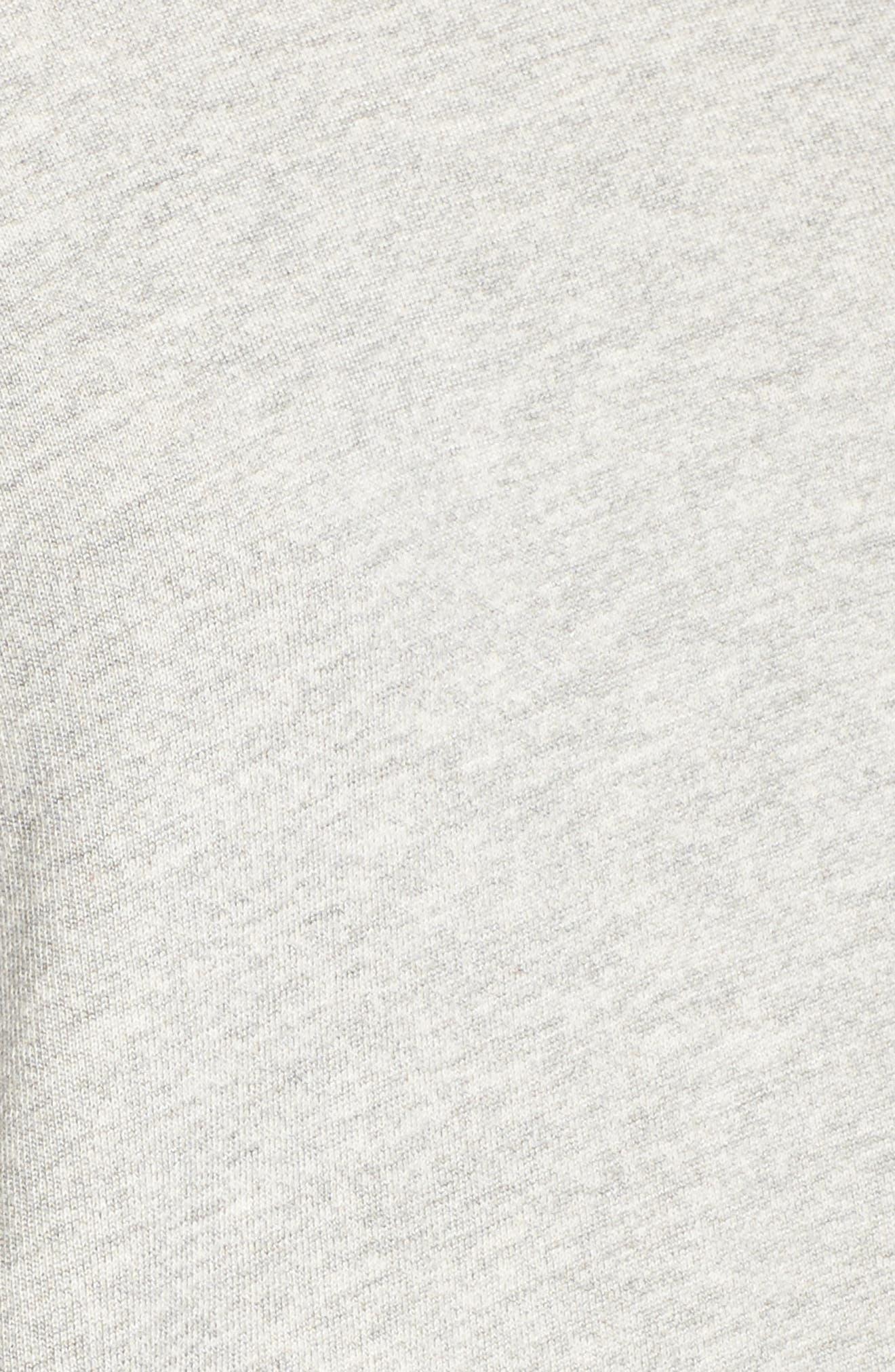 Stripe Bell Sleeve Hoodie,                             Alternate thumbnail 5, color,                             Heather Grey