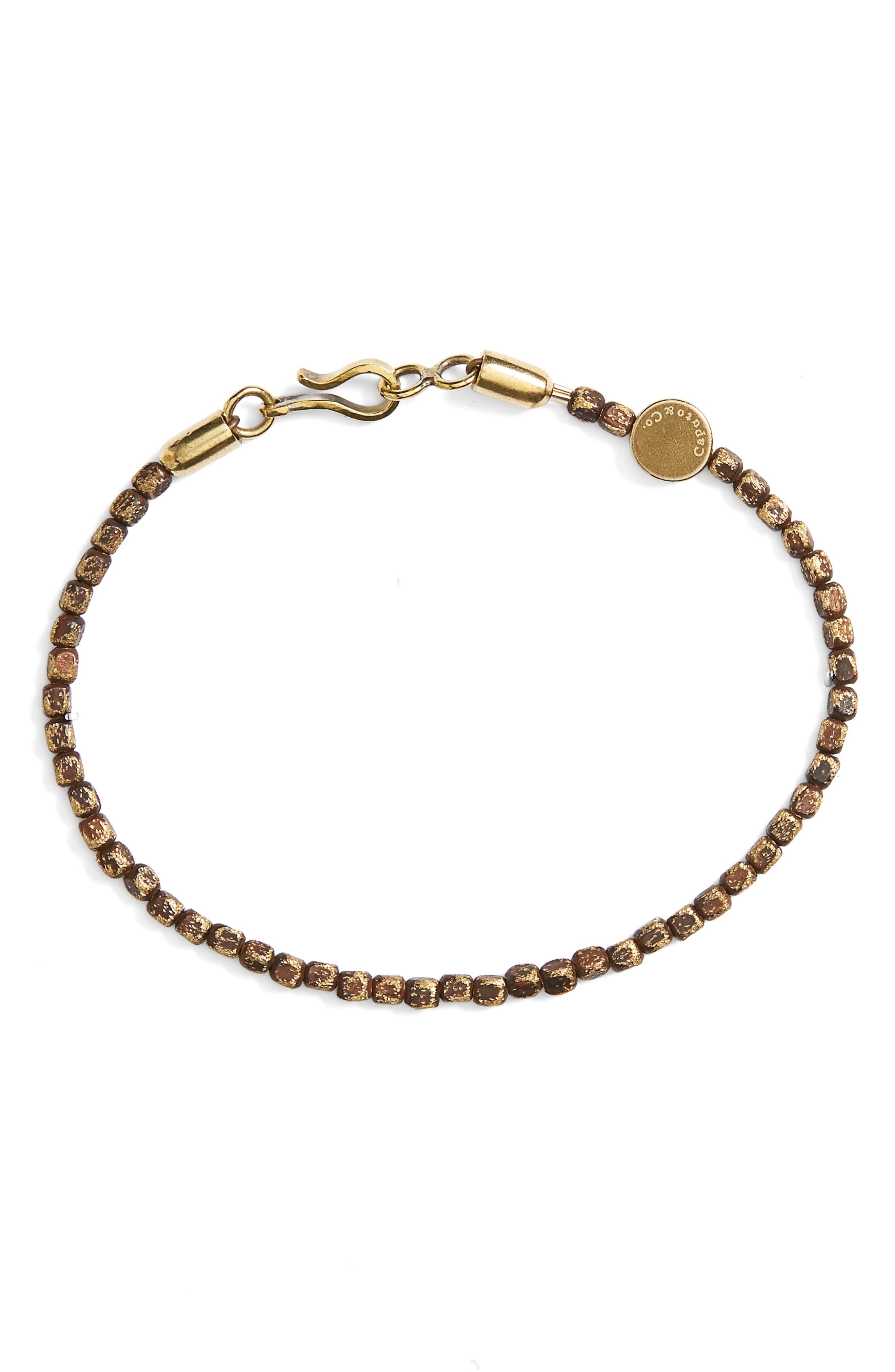 Alternate Image 1 Selected - Caputo & Co. Brass Bead Bracelet