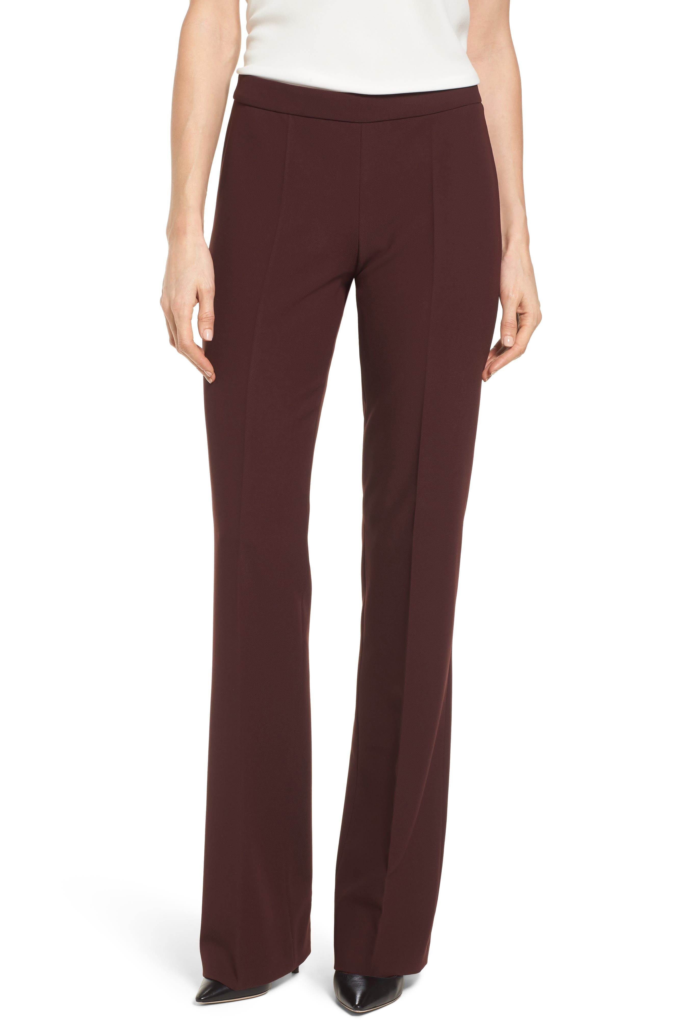 Side Zip Suit Trousers,                             Main thumbnail 1, color,                             Mulberry