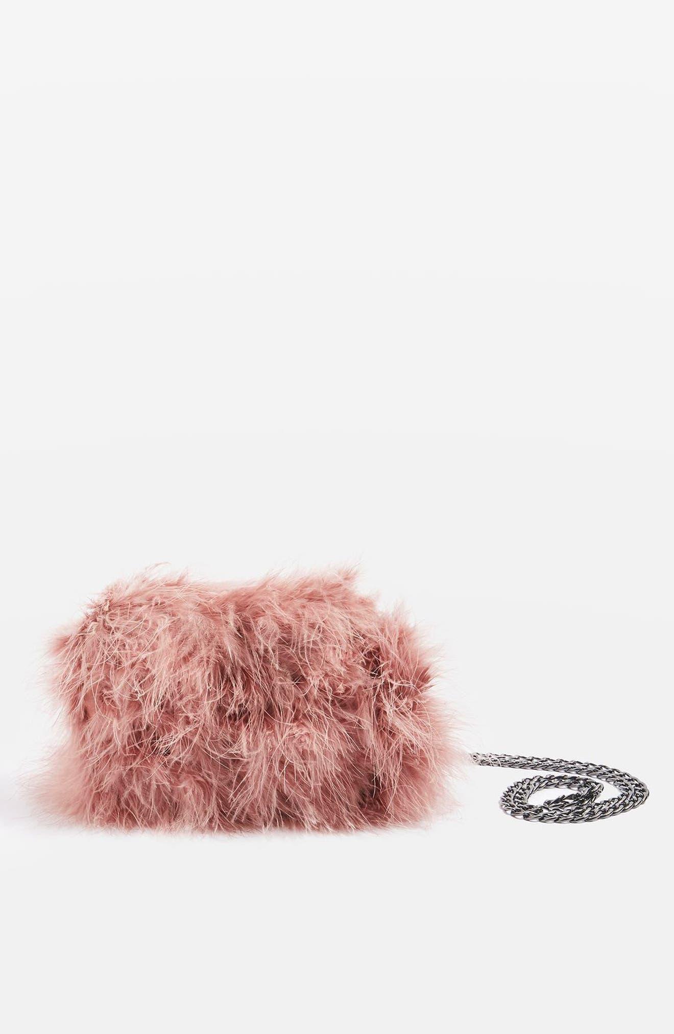 Alternate Image 2  - Topshop Riga Feather Crossbody Bag