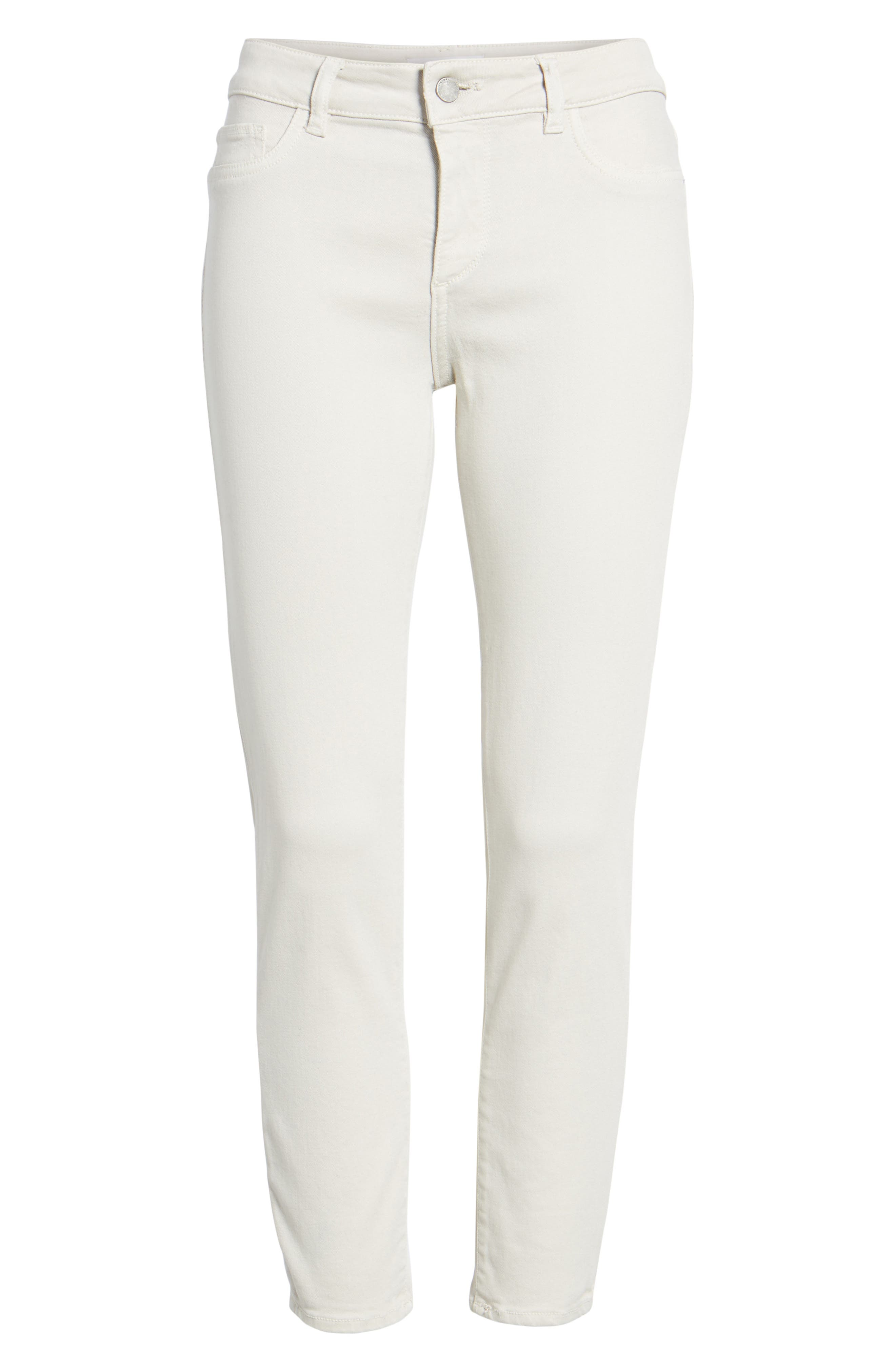 Florence Crop Skinny Jeans,                             Alternate thumbnail 7, color,                             Bone