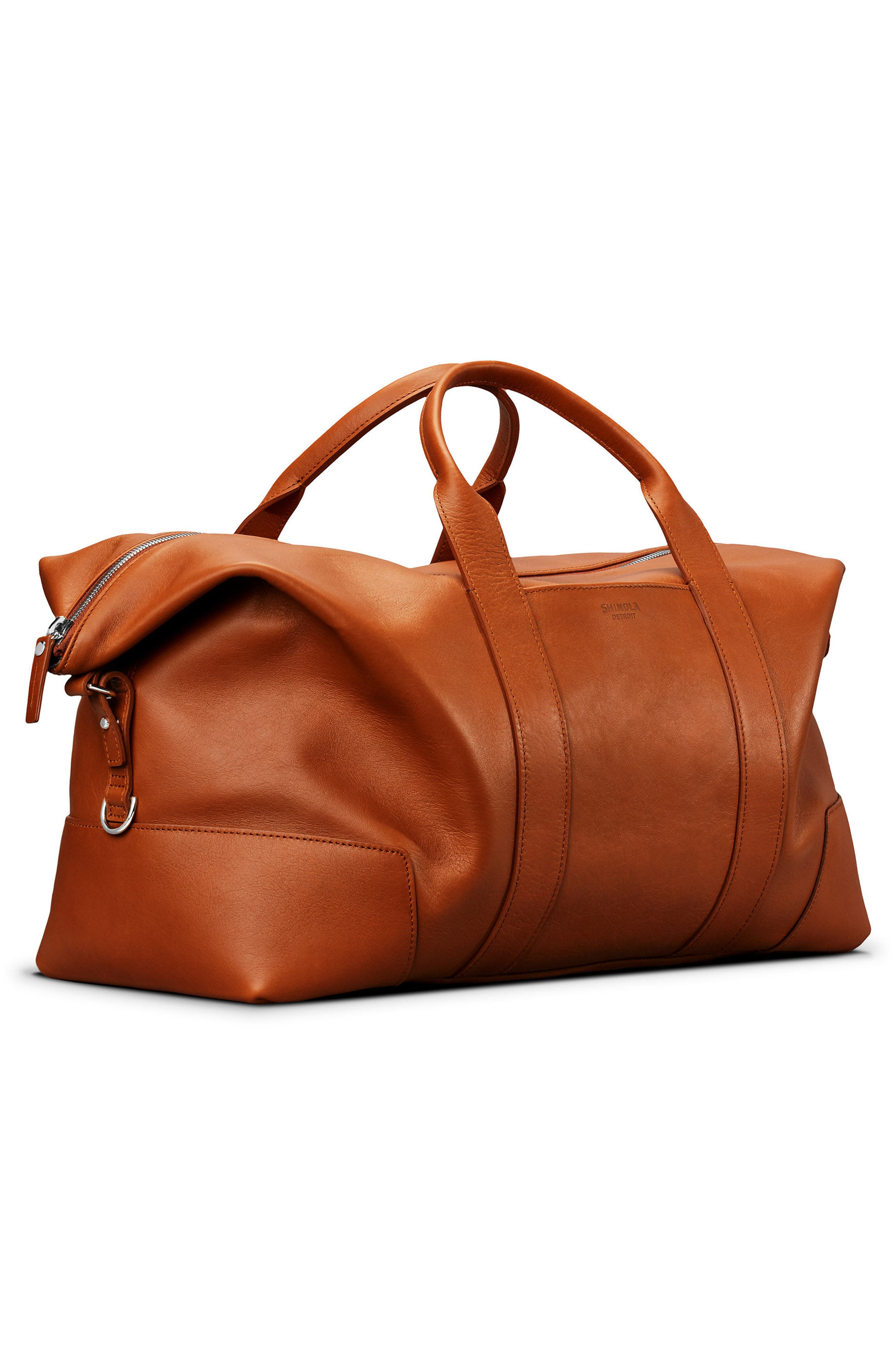 Alternate Image 4  - Shinola Signature Leather Duffel Bag