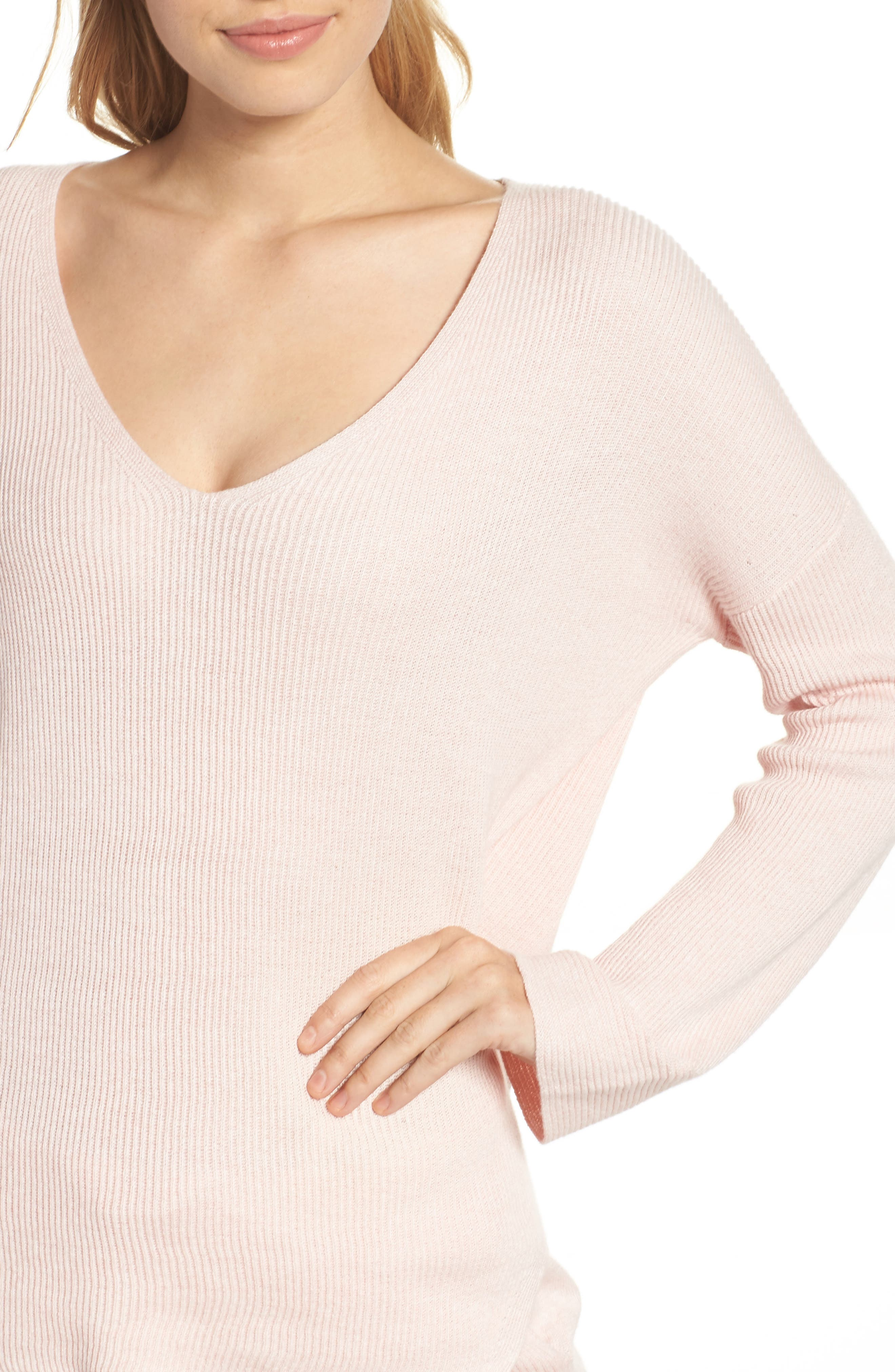 Veronica Lounge Pullover,                             Alternate thumbnail 6, color,                             Soft Pink