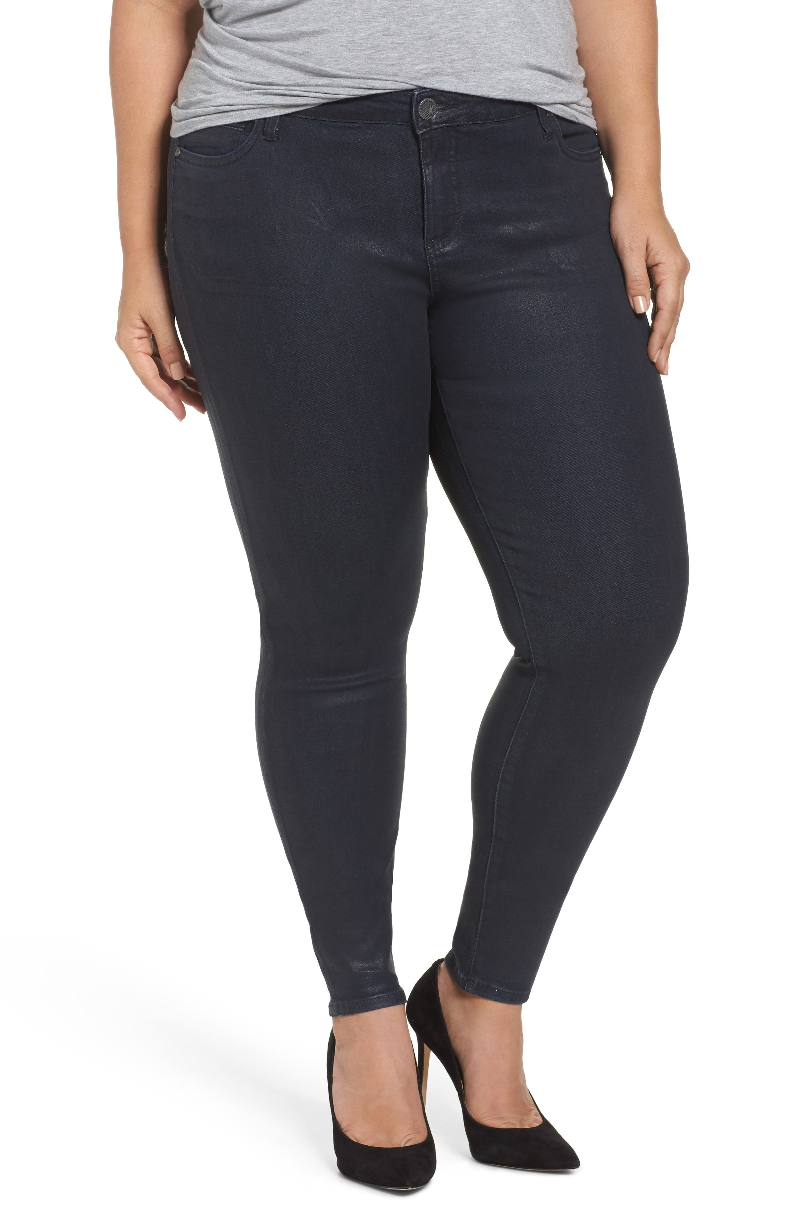 Mia Toothpick Jeans,                         Main,                         color, Navy