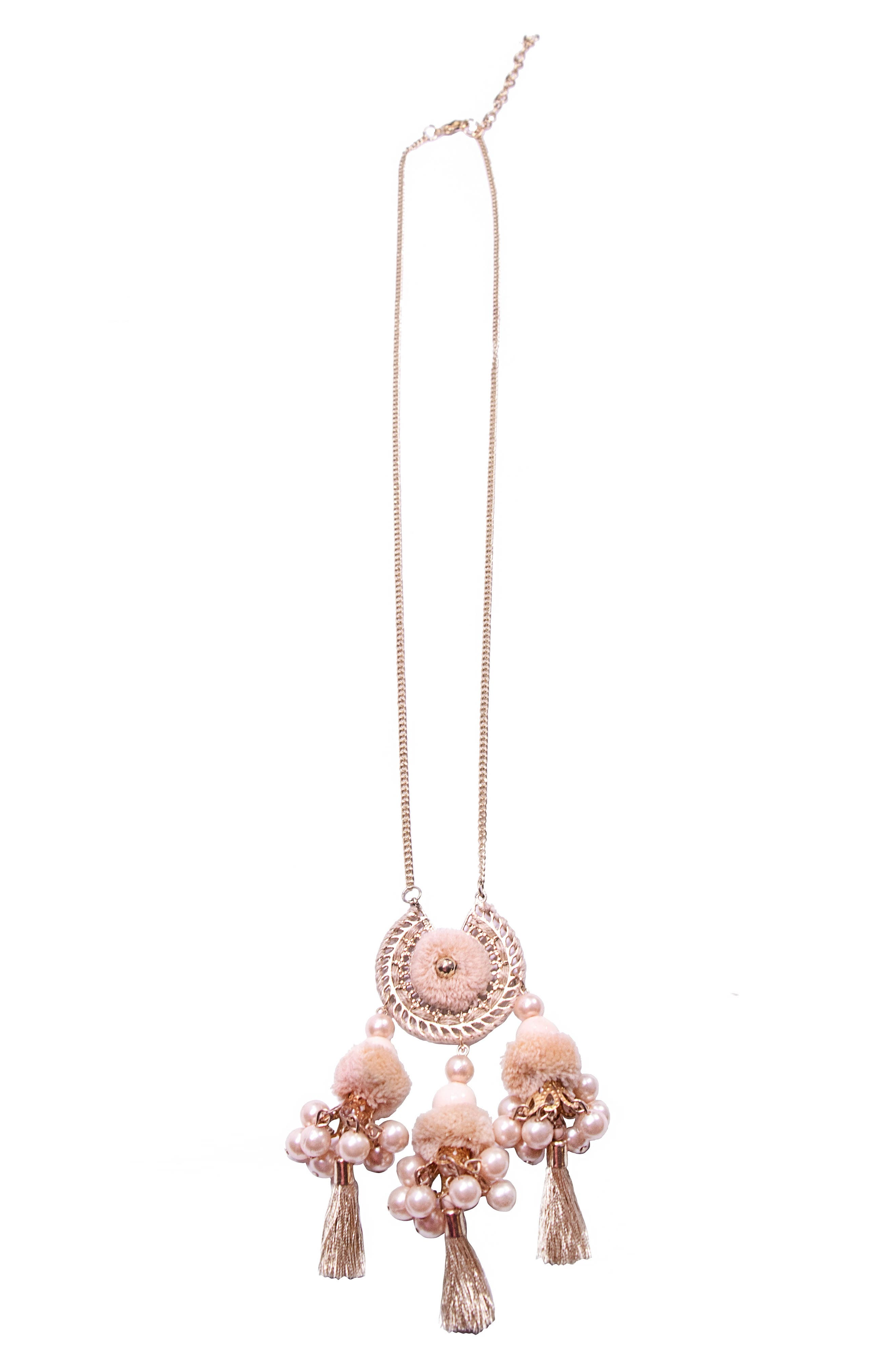 Reena Ball Tassel Necklace,                         Main,                         color, Gold