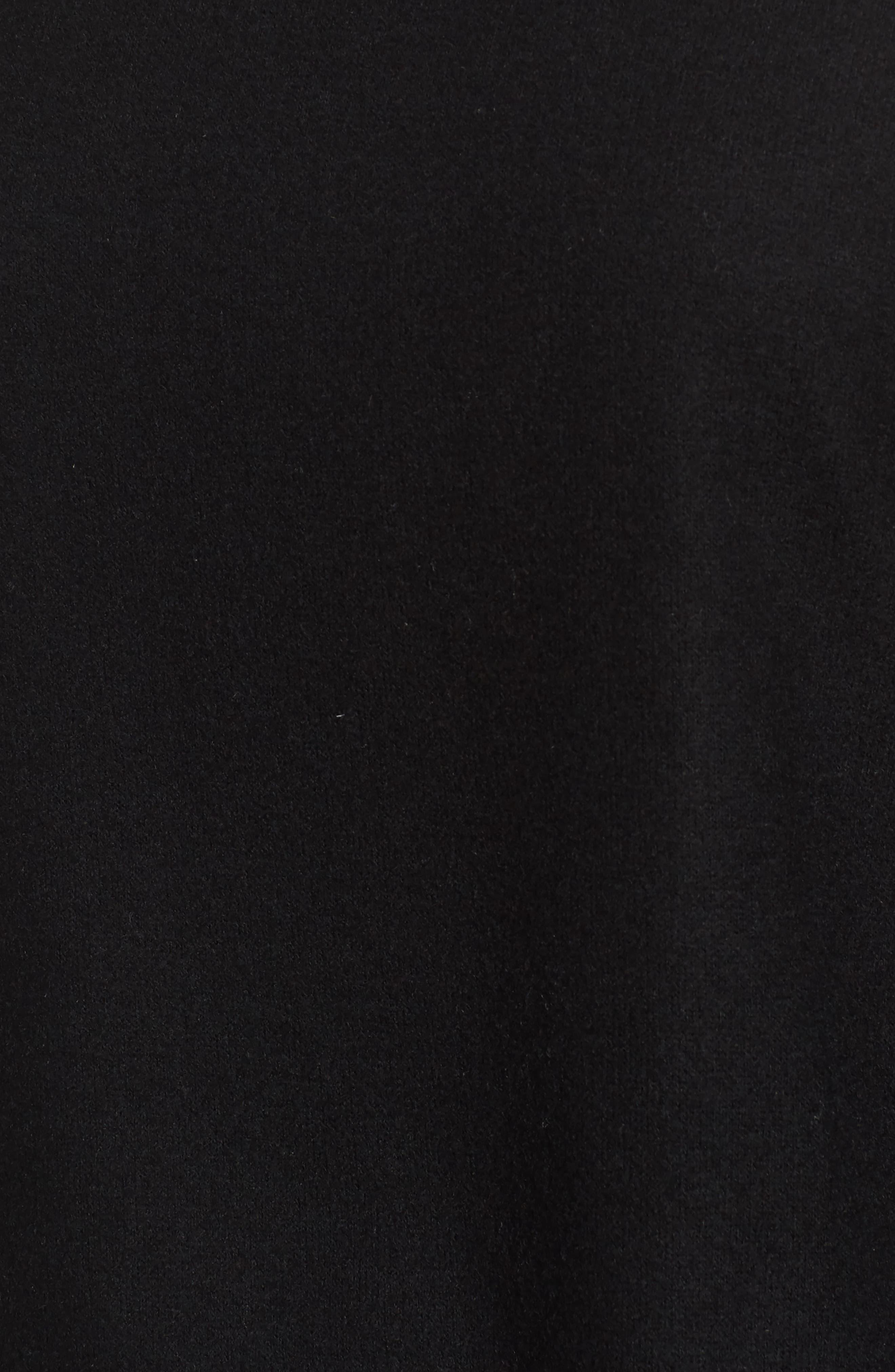Crop Mock Neck Pullover,                             Alternate thumbnail 5, color,                             Black
