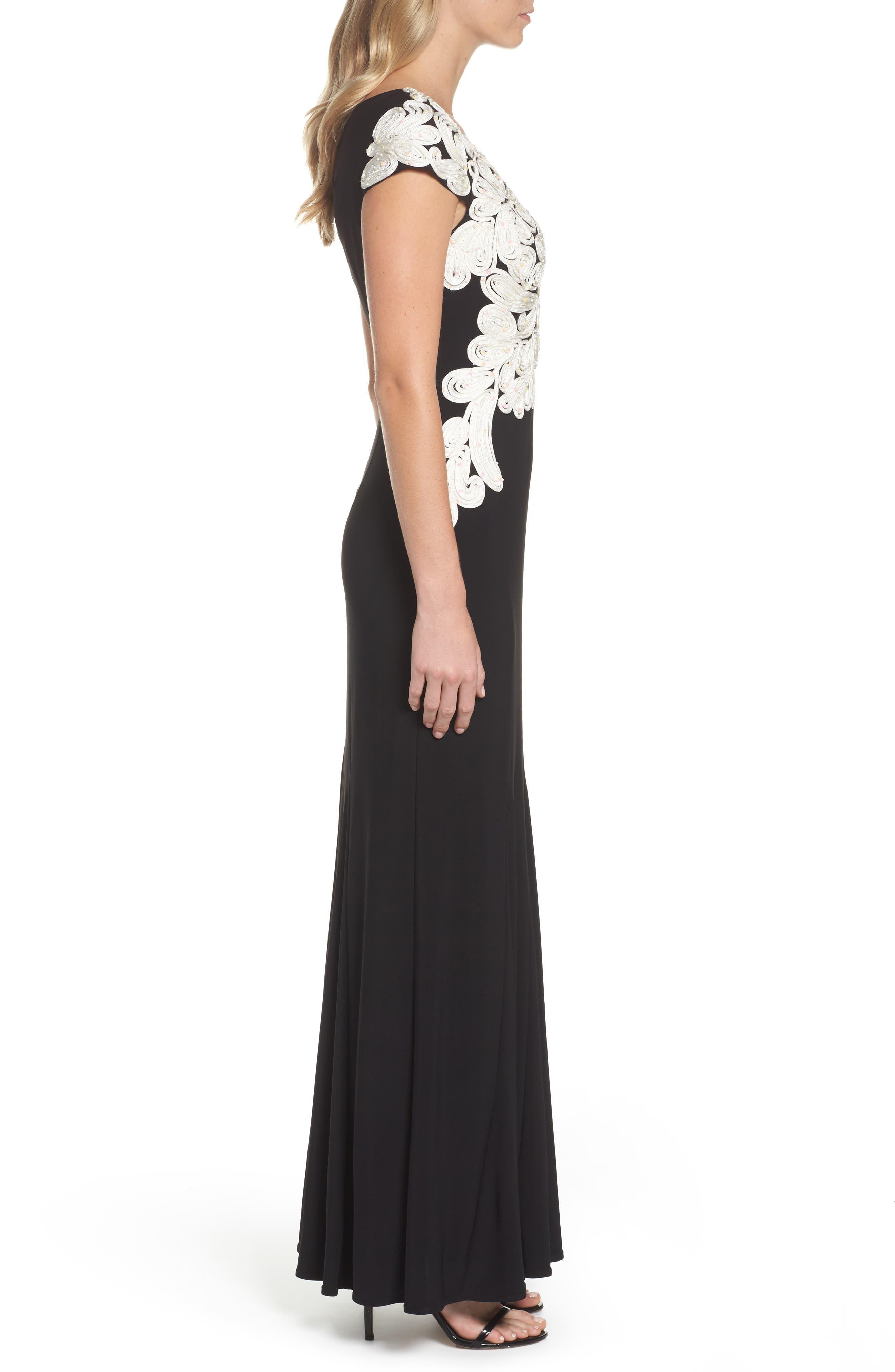 Alternate Image 3  - Alex Evenings Soutache Bodice Gown
