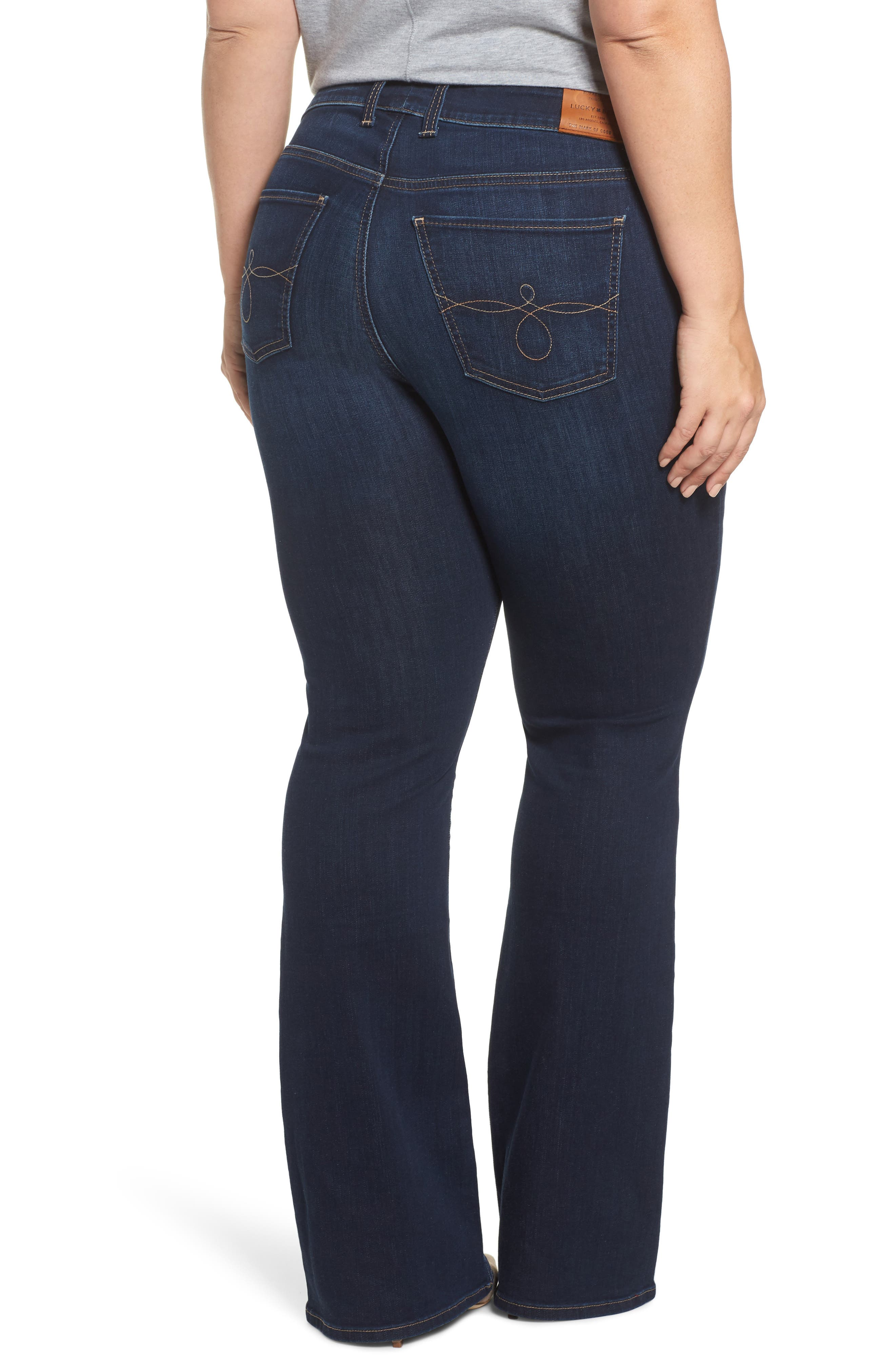 Alternate Image 2  - Lucky Brand Ginger Bootcut Jeans (Twilight Blue) (Plus Size)