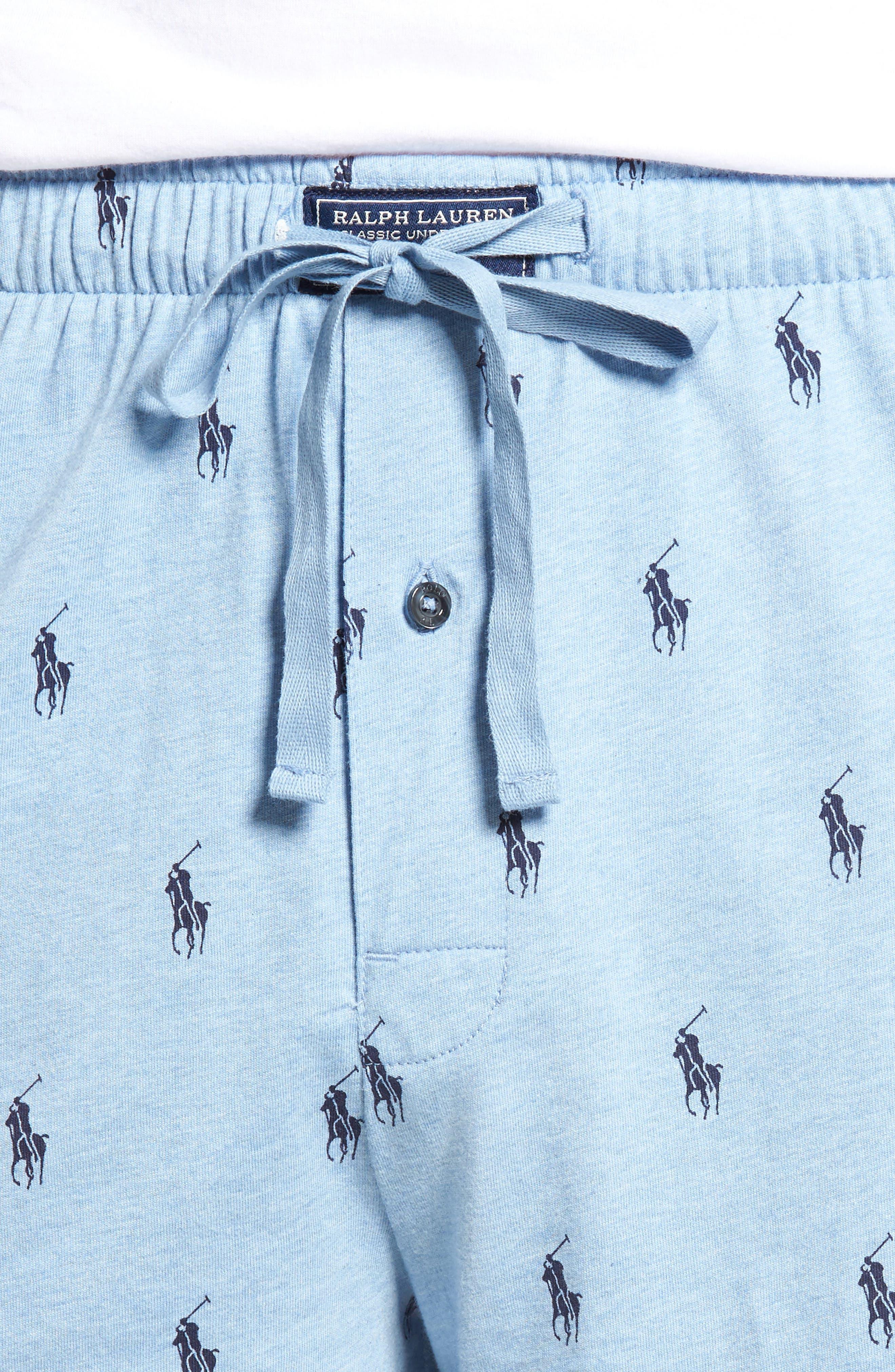 Alternate Image 4  - Ralph Lauren Print Jersey Pajama Shorts