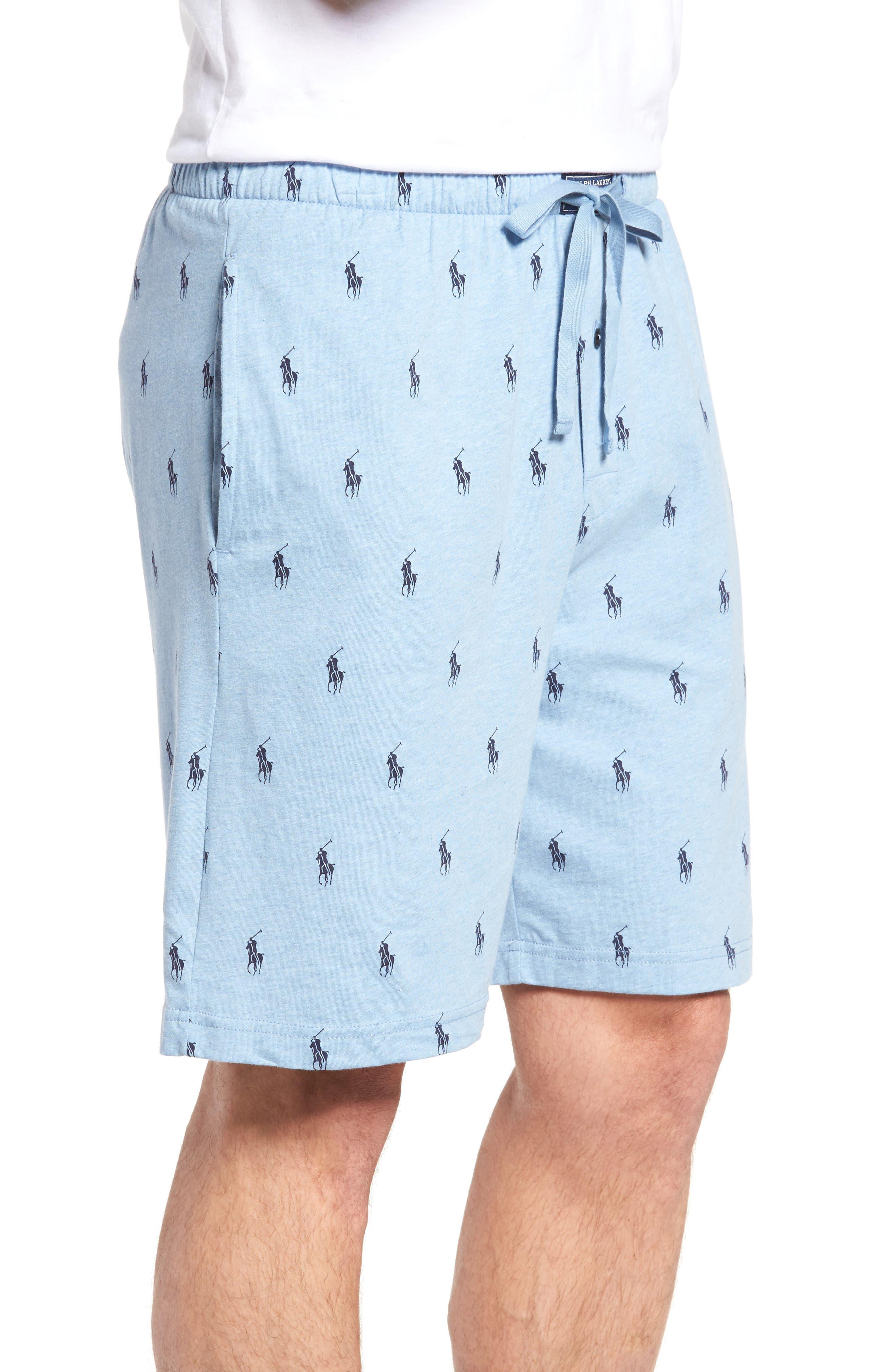 Alternate Image 3  - Ralph Lauren Print Jersey Pajama Shorts