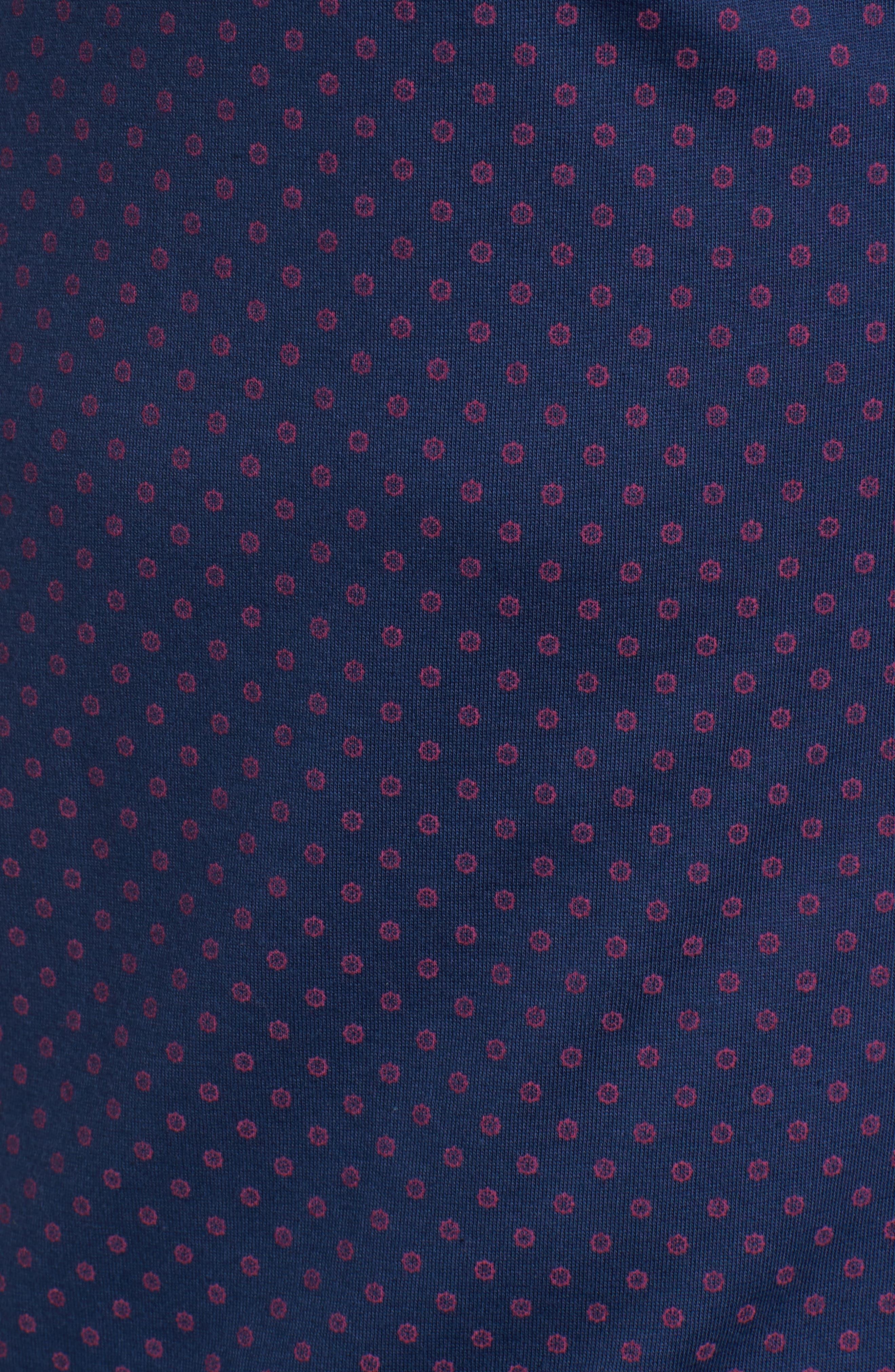 Ship Wheel Knit Sport Shirt,                             Alternate thumbnail 5, color,                             Navy