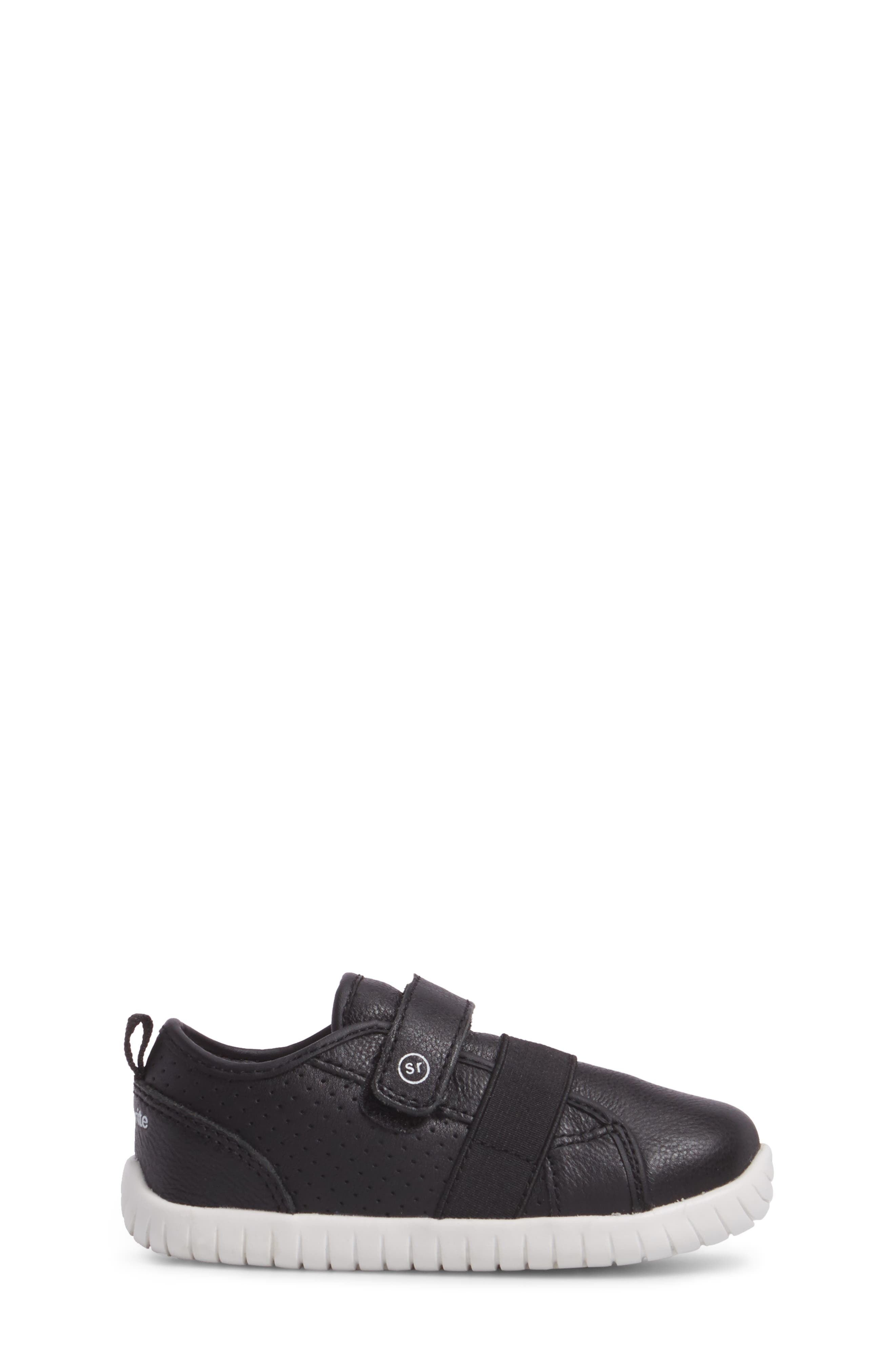 SRT Riley Sneaker,                             Alternate thumbnail 3, color,                             Black Leather