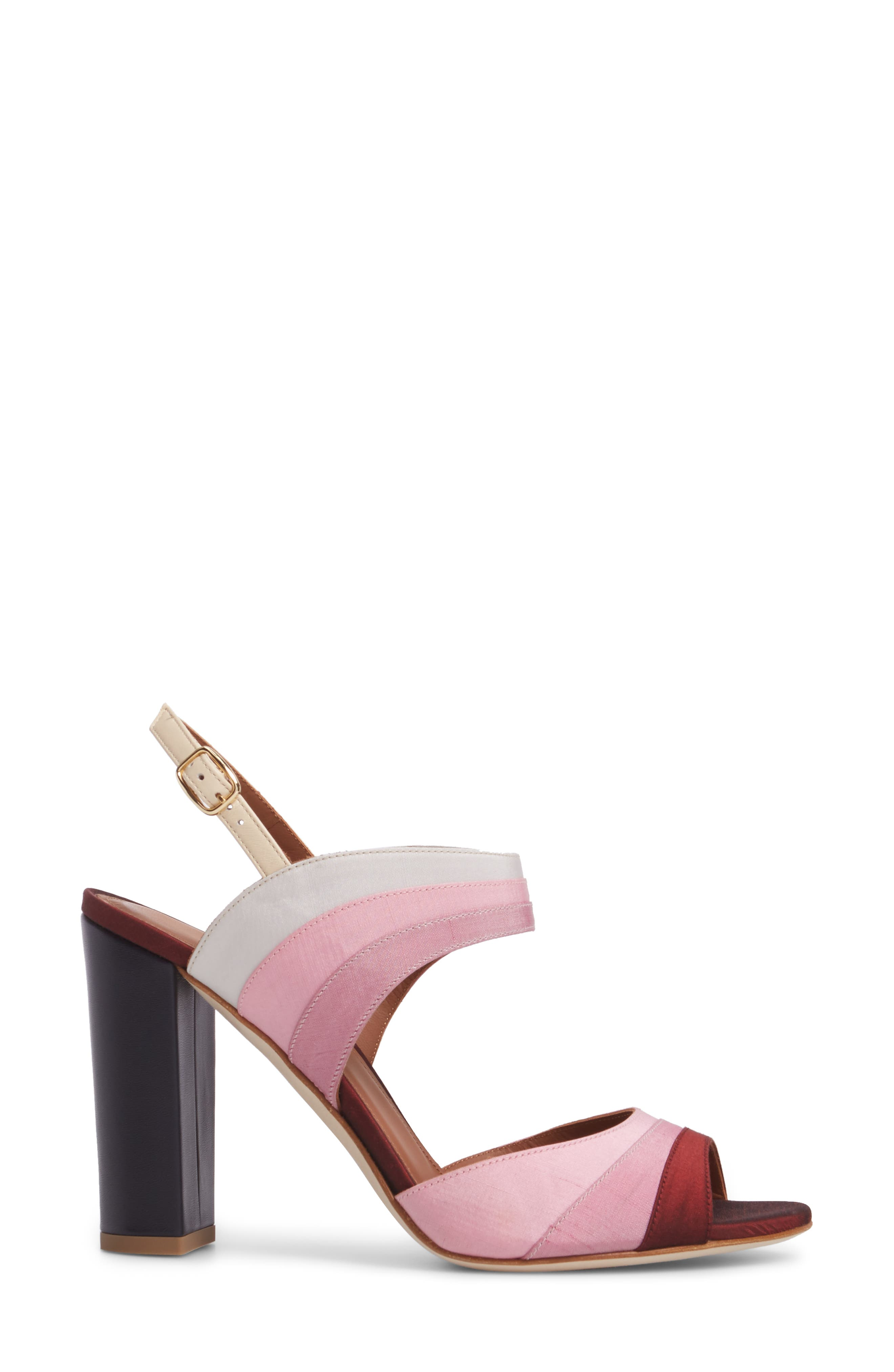 Anita Ombré Slingback Sandal,                             Alternate thumbnail 3, color,                             Peach/ Rose/ Berry/ Wine