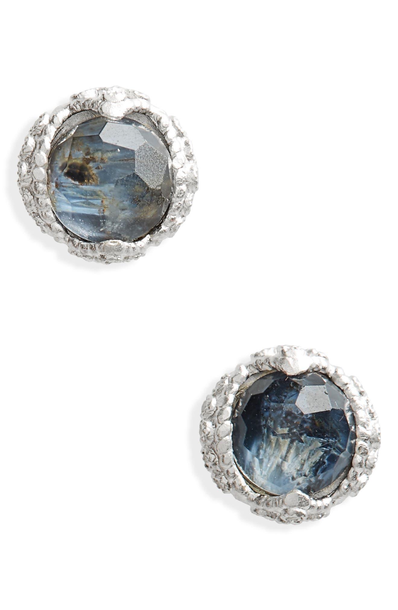 New World Stud Earrings,                             Main thumbnail 1, color,                             Silver