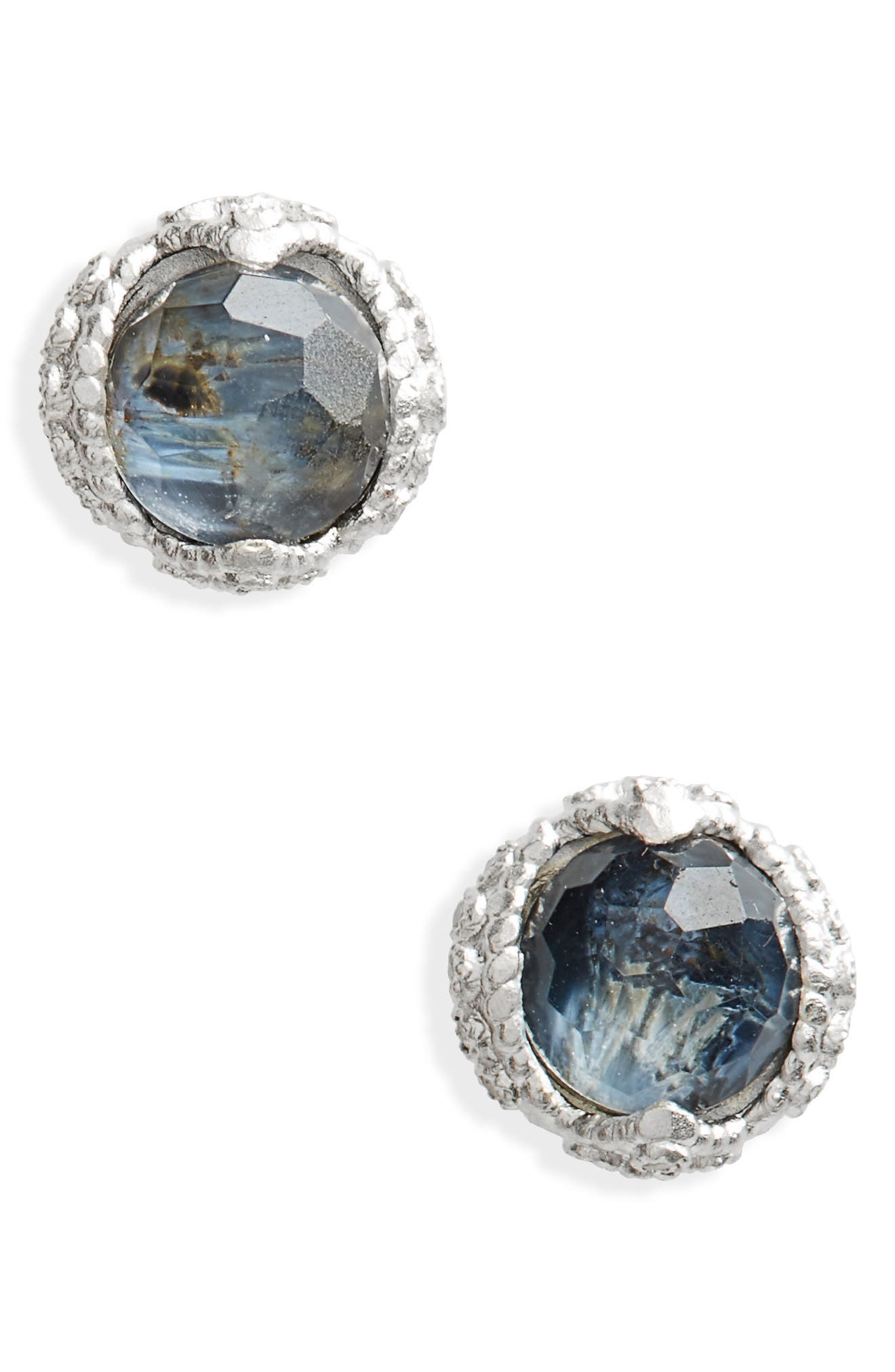 New World Stud Earrings,                         Main,                         color, Silver