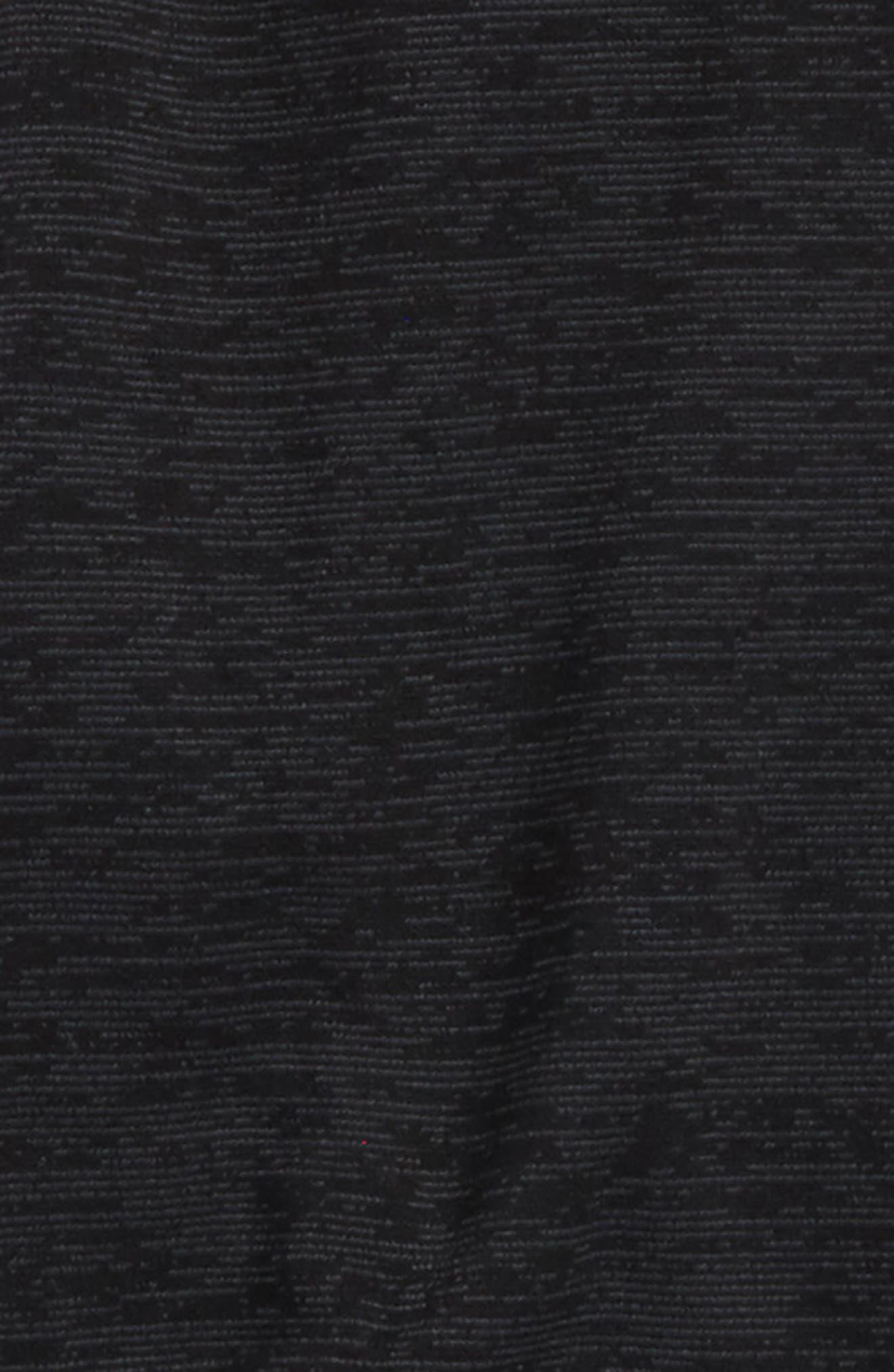 Fleece Zip Hoodie,                             Alternate thumbnail 2, color,                             Black