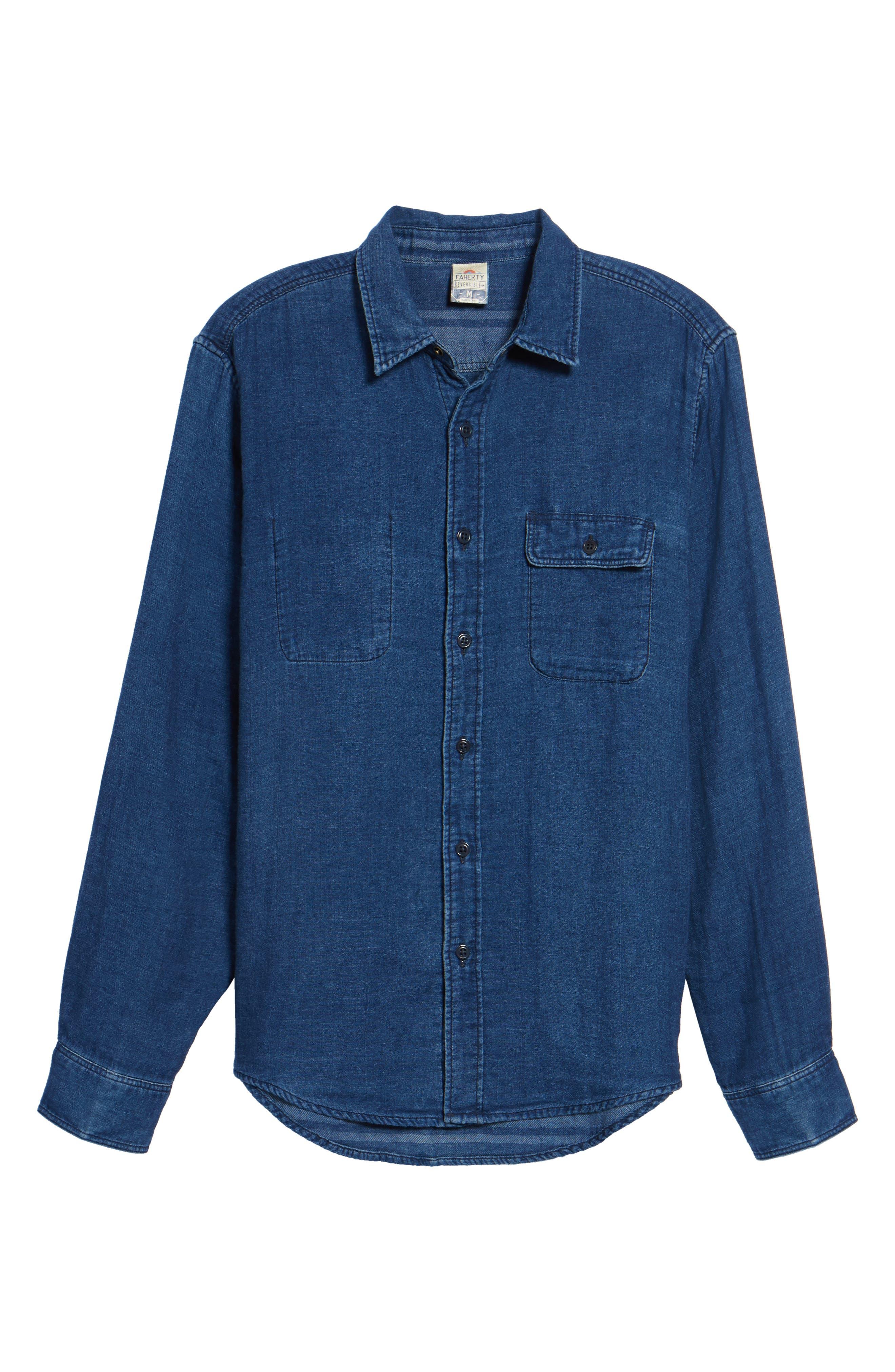 Alternate Image 5  - Faherty Brand Belmar Reversible Work Shirt