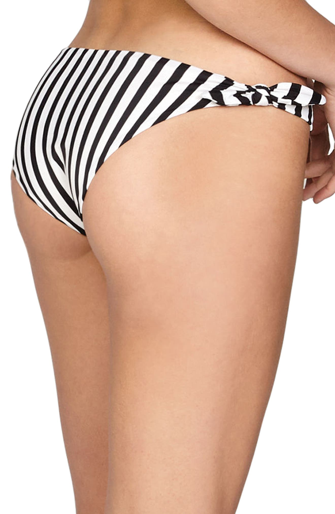 Coline Bikini Bottoms,                             Alternate thumbnail 2, color,                             Black Sands