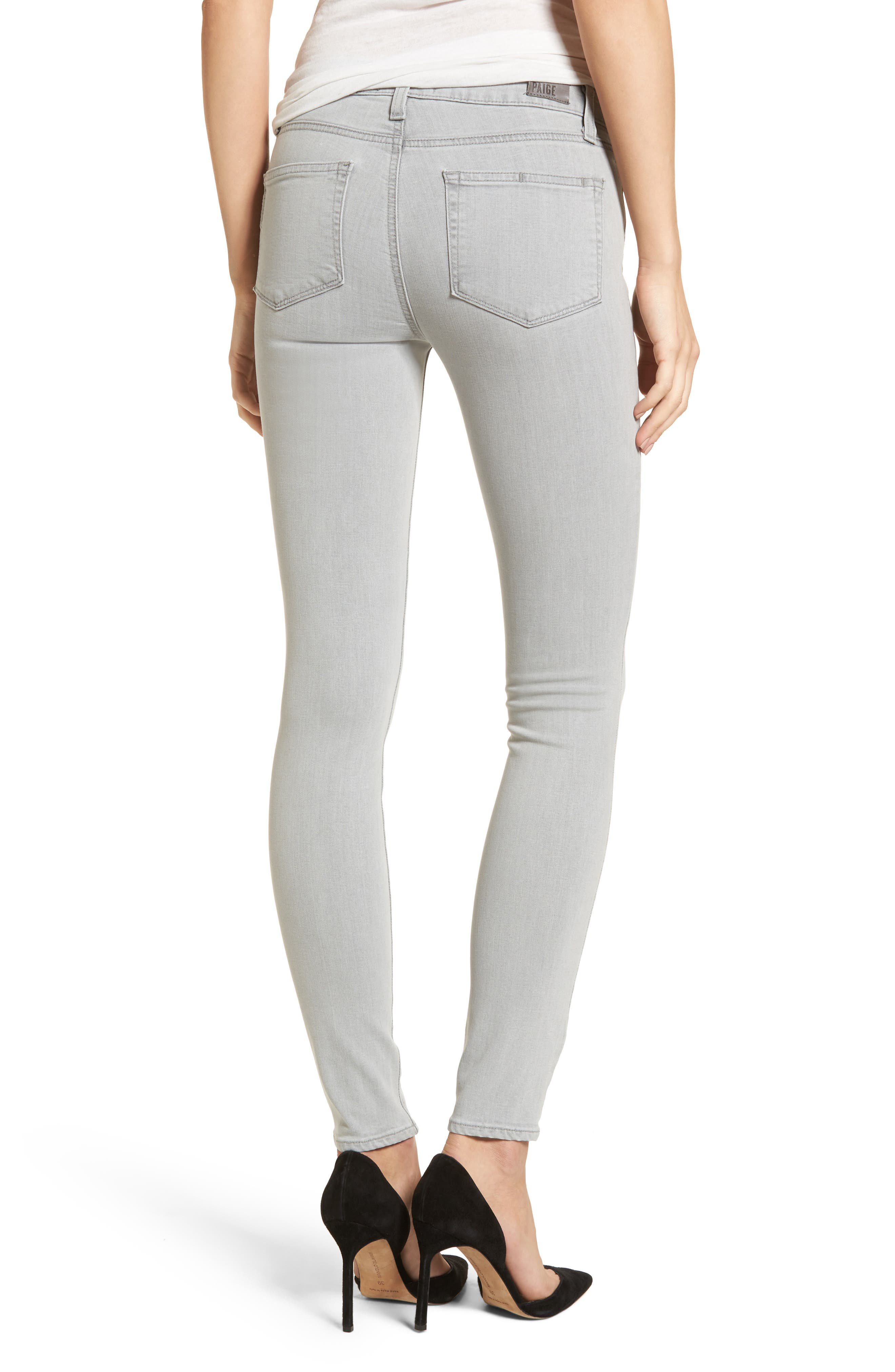 Transcend - Verdugo Ultra Skinny Jeans,                             Alternate thumbnail 2, color,                             Whisper Grey