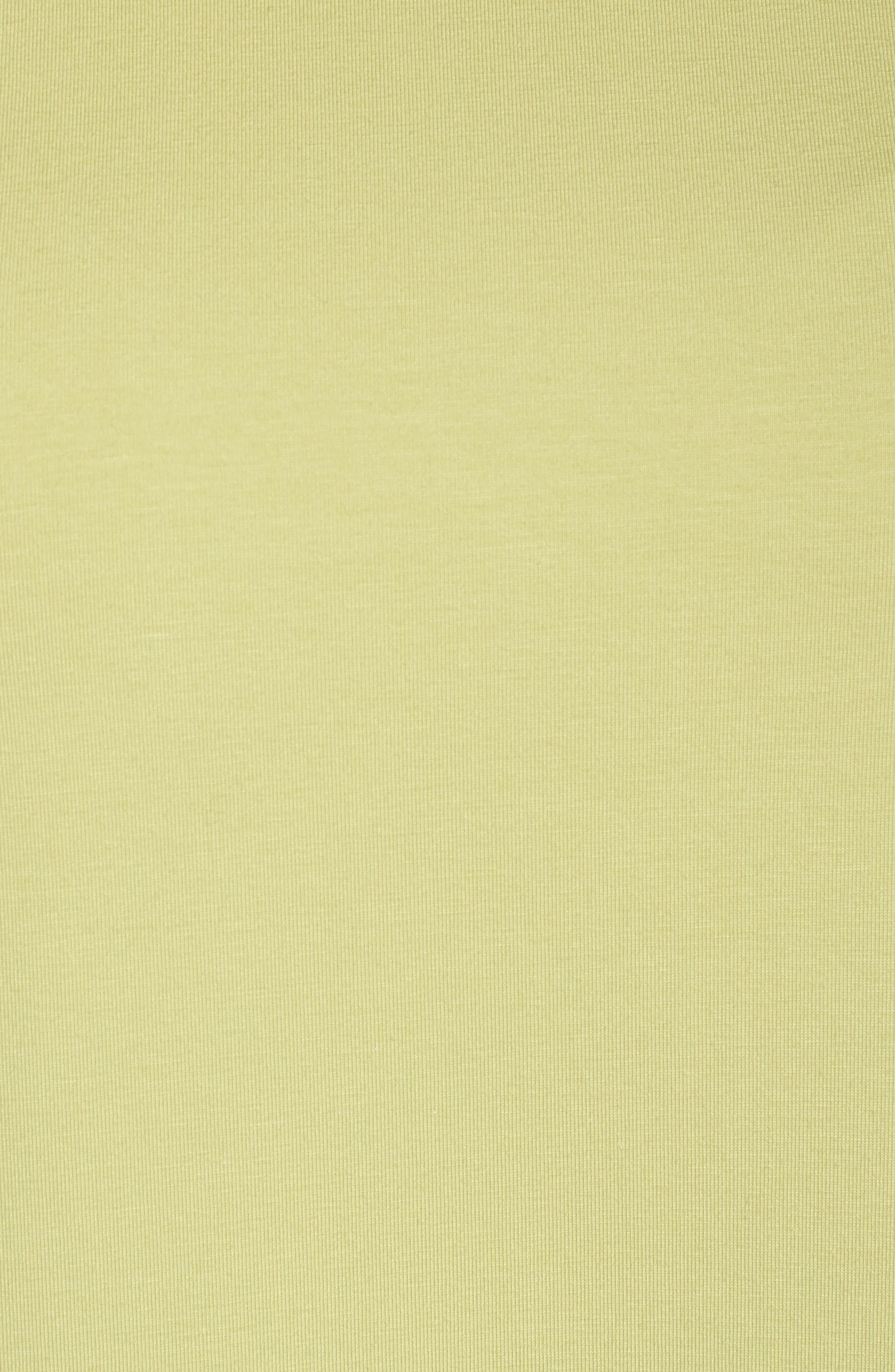 Jewel Neck Organic Stretch Cotton Tee,                             Alternate thumbnail 5, color,                             Green