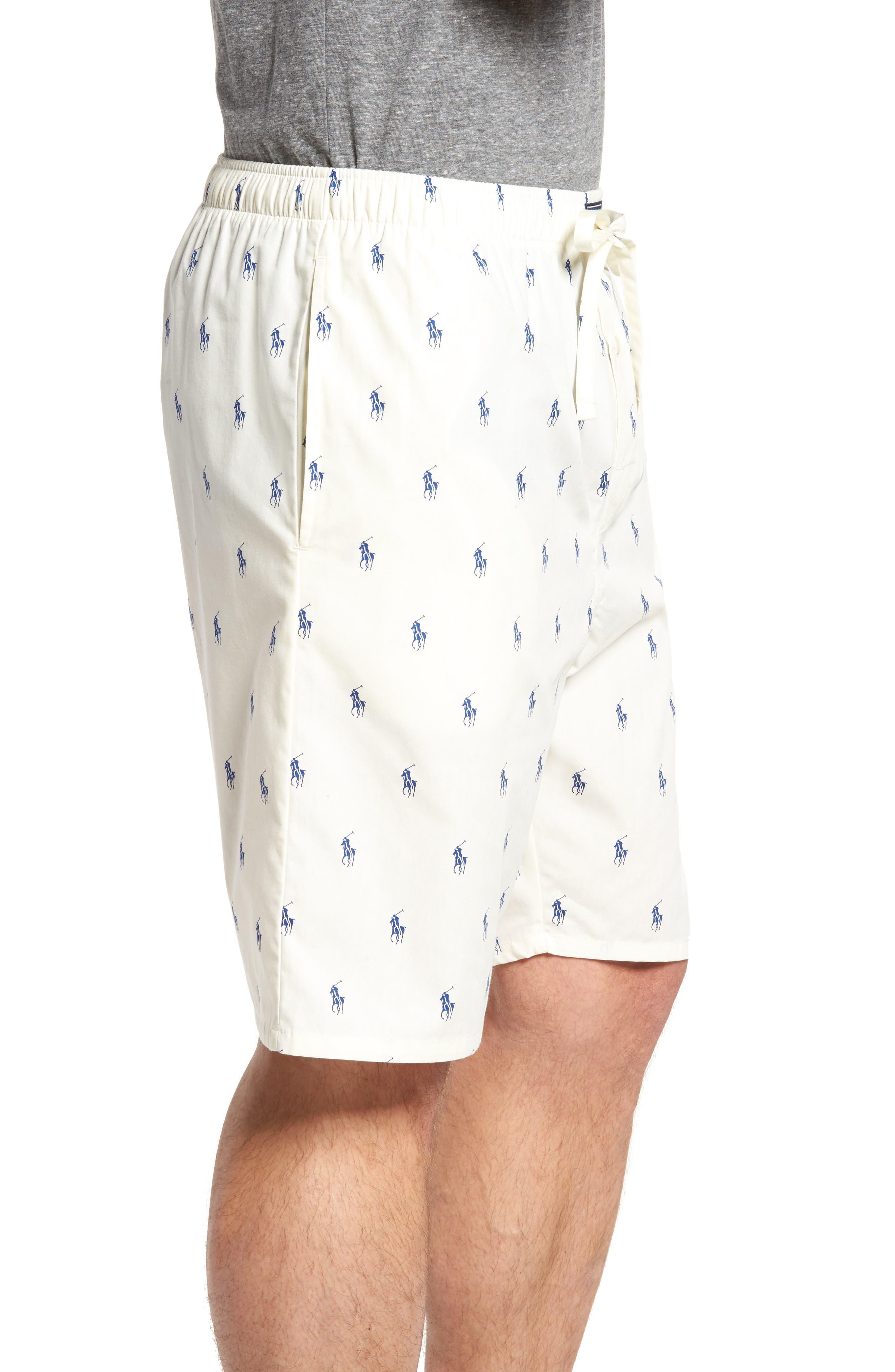 Alternate Image 3  - Ralph Lauren Woven Pajama Shorts