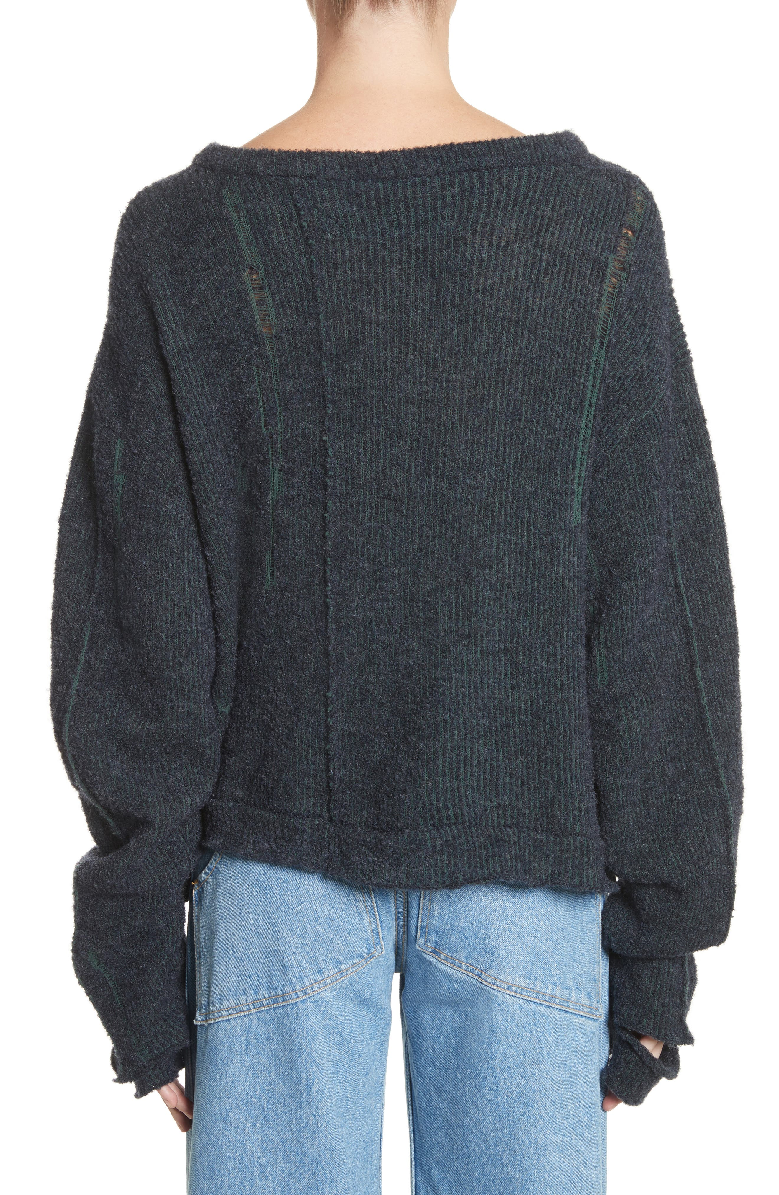 Wiggly Road Sweater,                             Alternate thumbnail 2, color,                             Navy