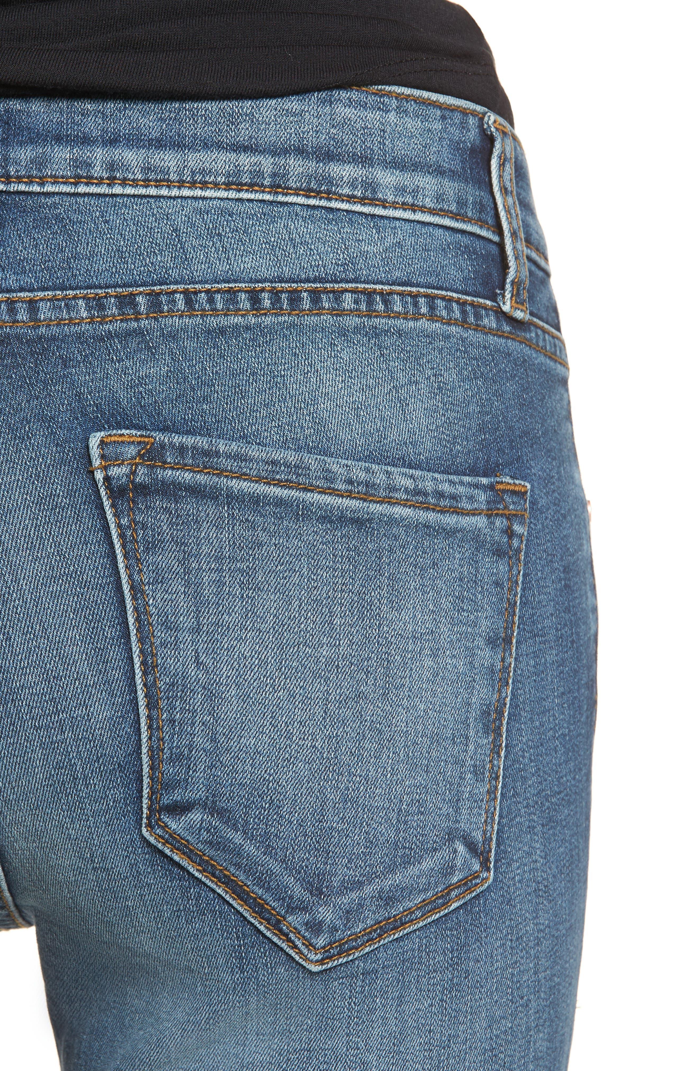 Decon Distressed Skinny Jeans,                             Alternate thumbnail 4, color,                             Vintage