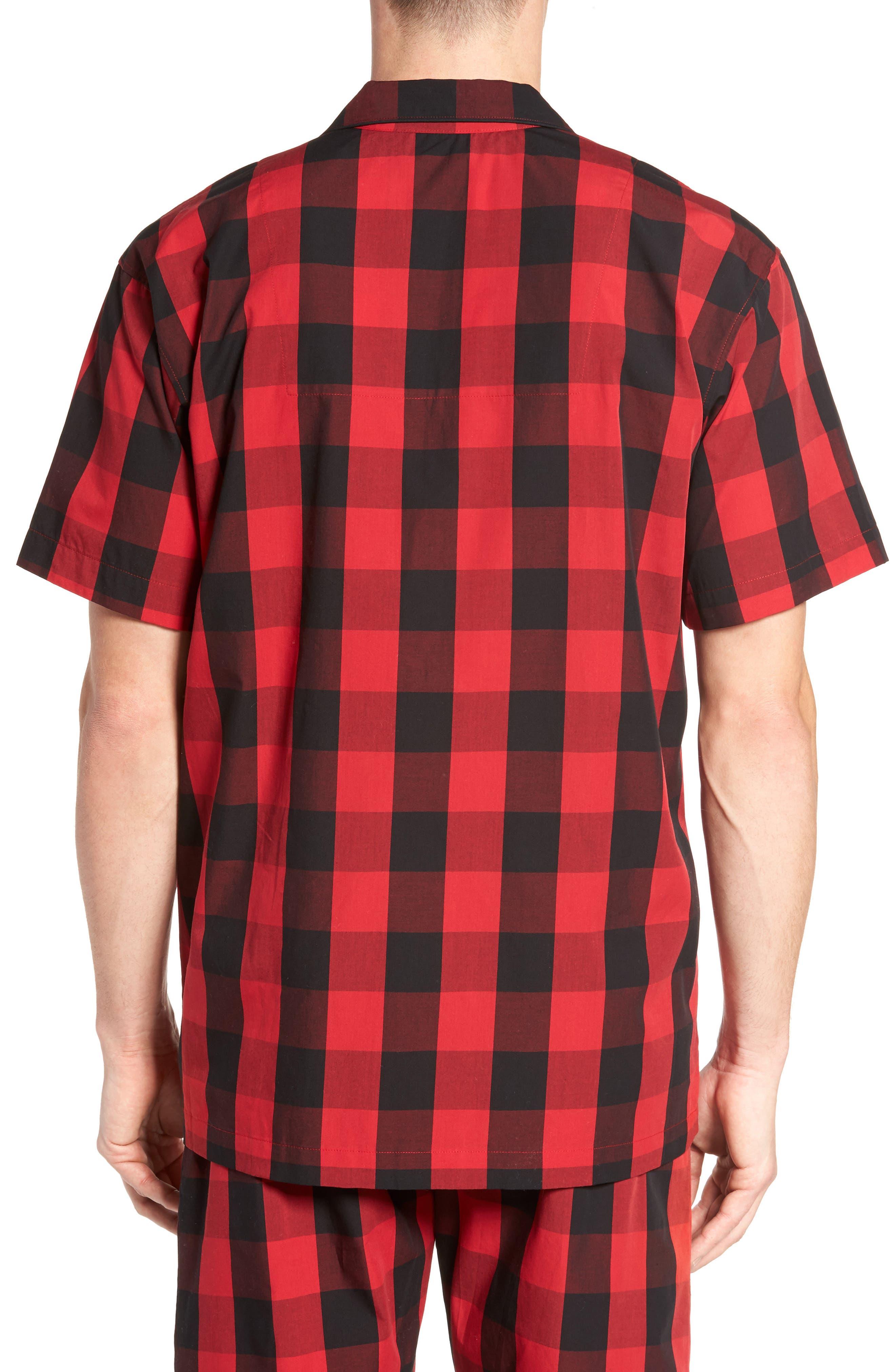 Cotton Pajama Shirt,                             Alternate thumbnail 2, color,                             Montana Plaid/ Polo Black