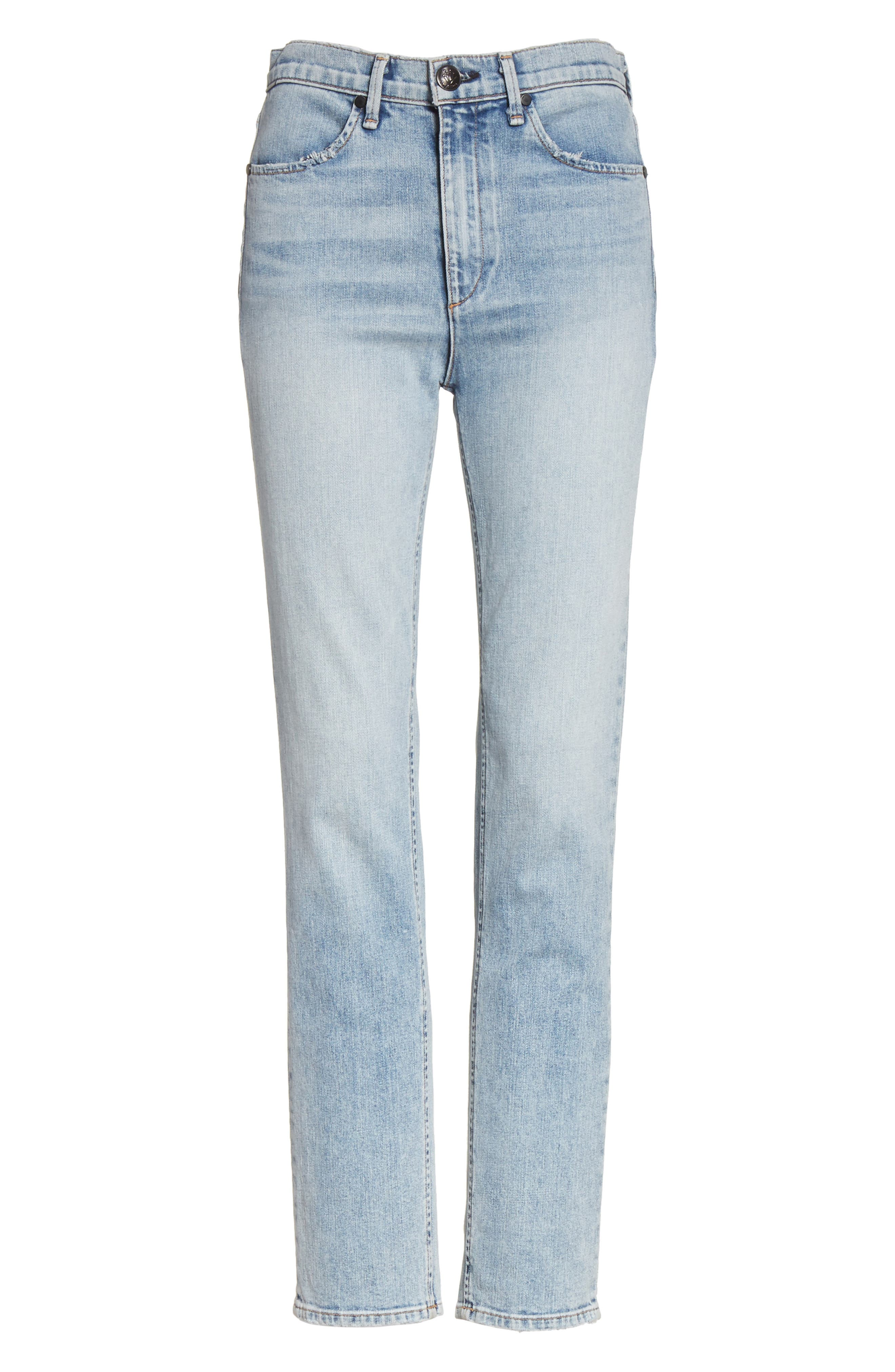 Alternate Image 6  - rag & bone/JEAN Cigarette Leg Jeans (Double Down)