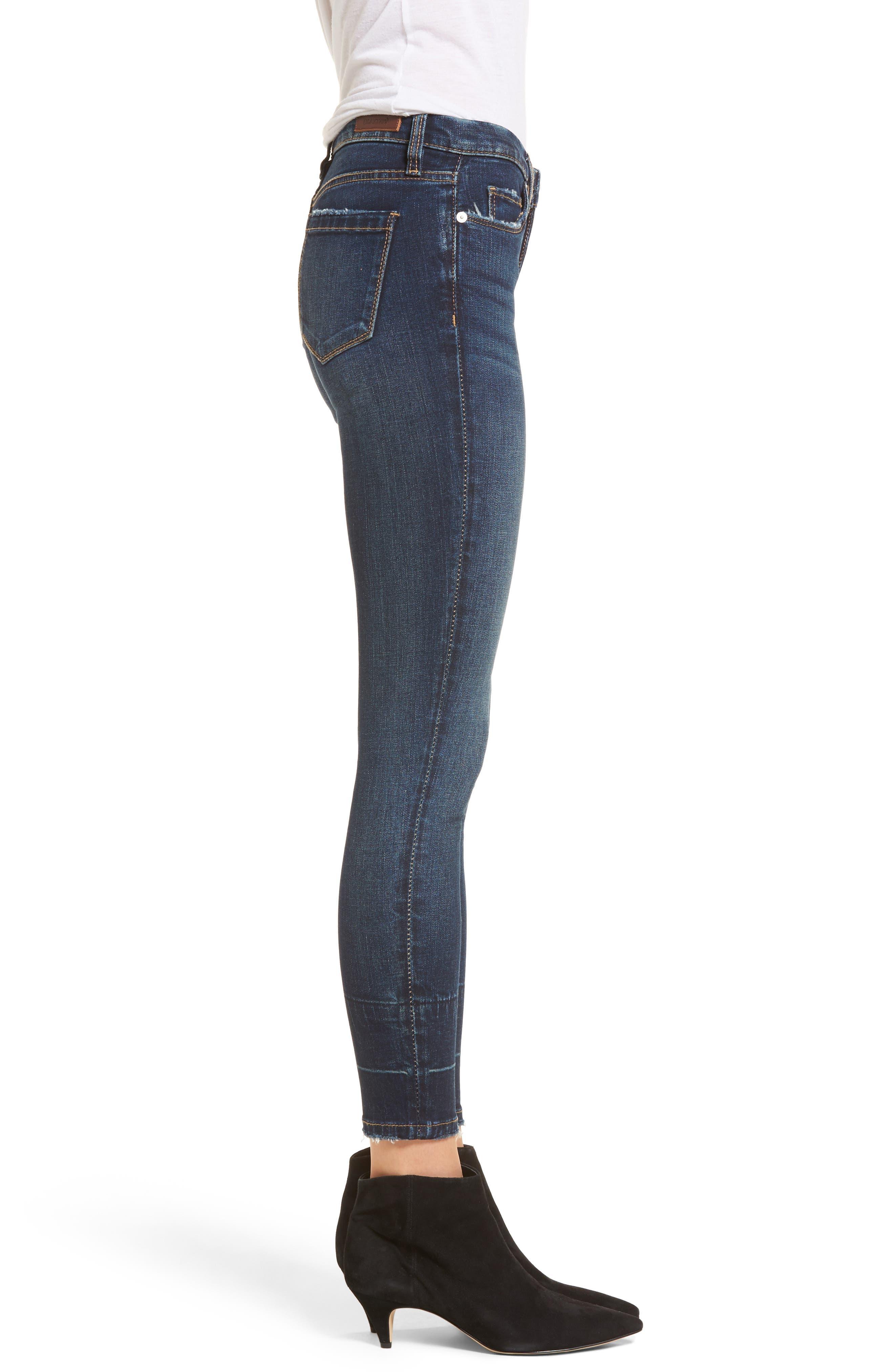 Release Hem Skinny Jeans,                             Alternate thumbnail 3, color,                             Morning Makeout