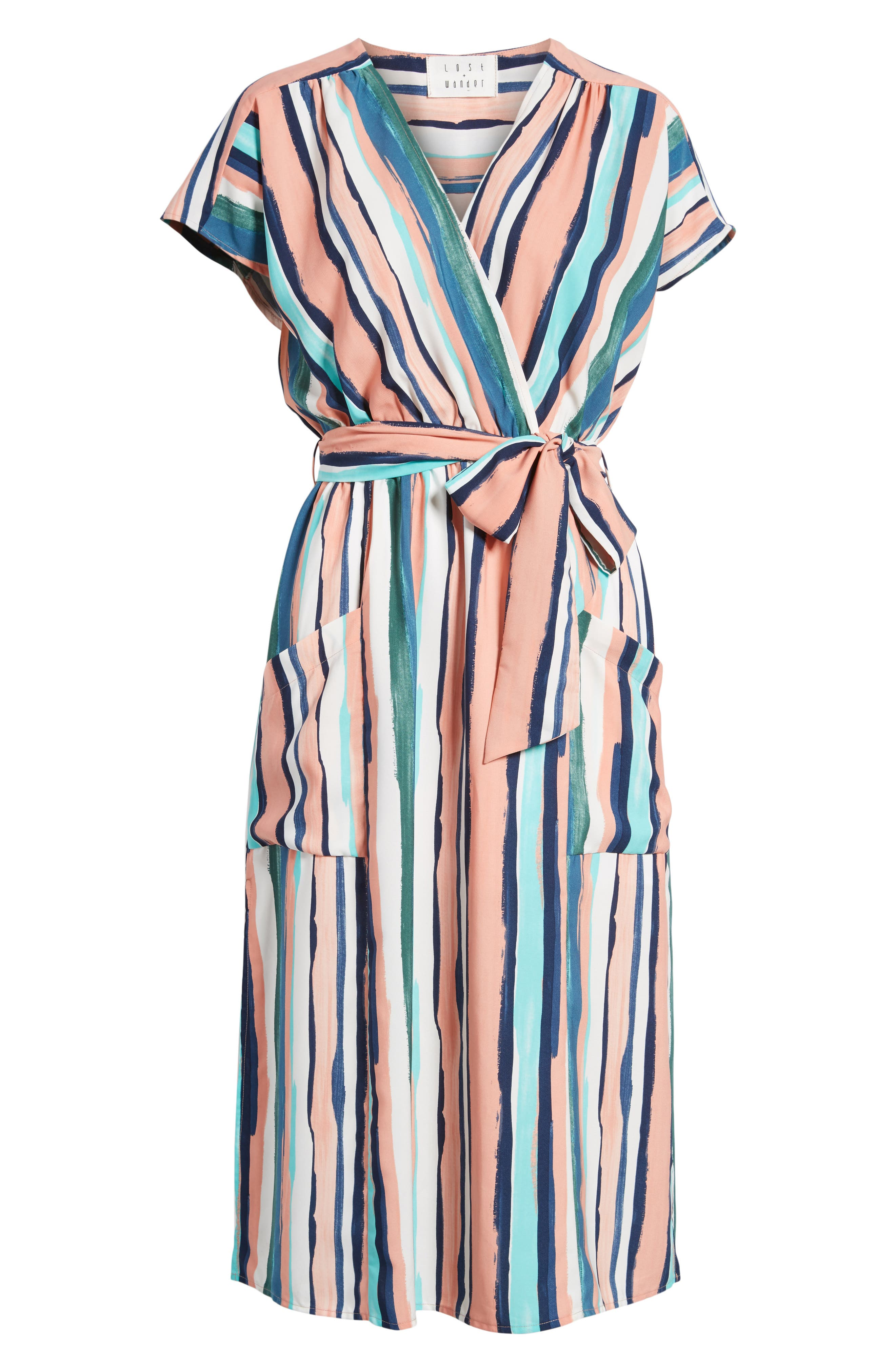 Alternate Image 6  - Lost + Wander Santorini Faux Wrap Dress