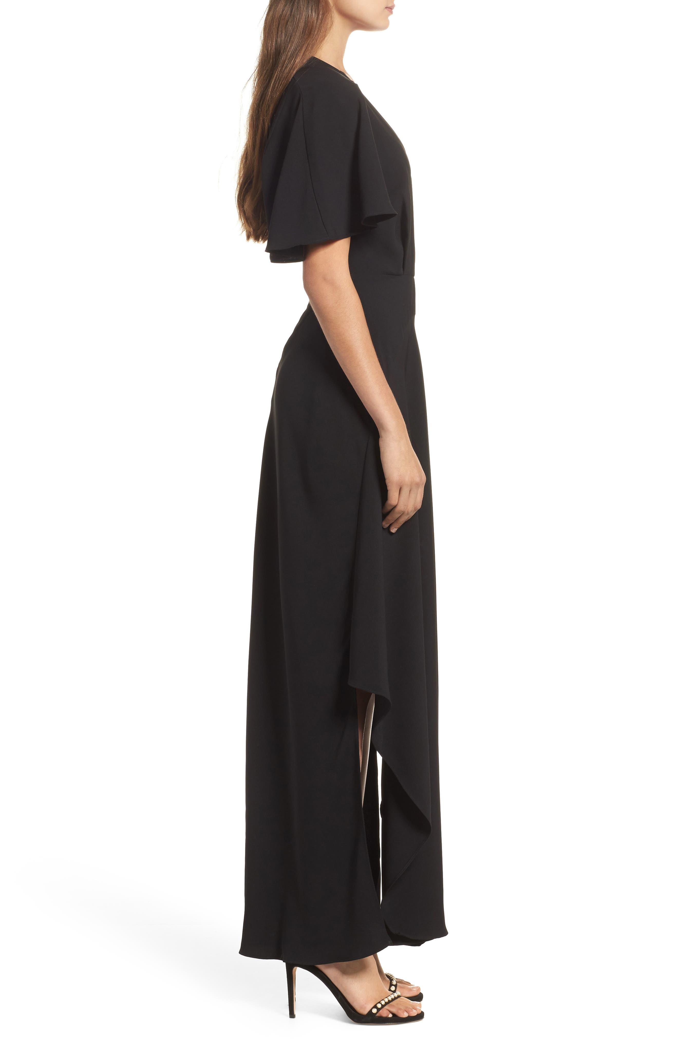 Kerry Maxi Dress,                             Alternate thumbnail 3, color,                             Black