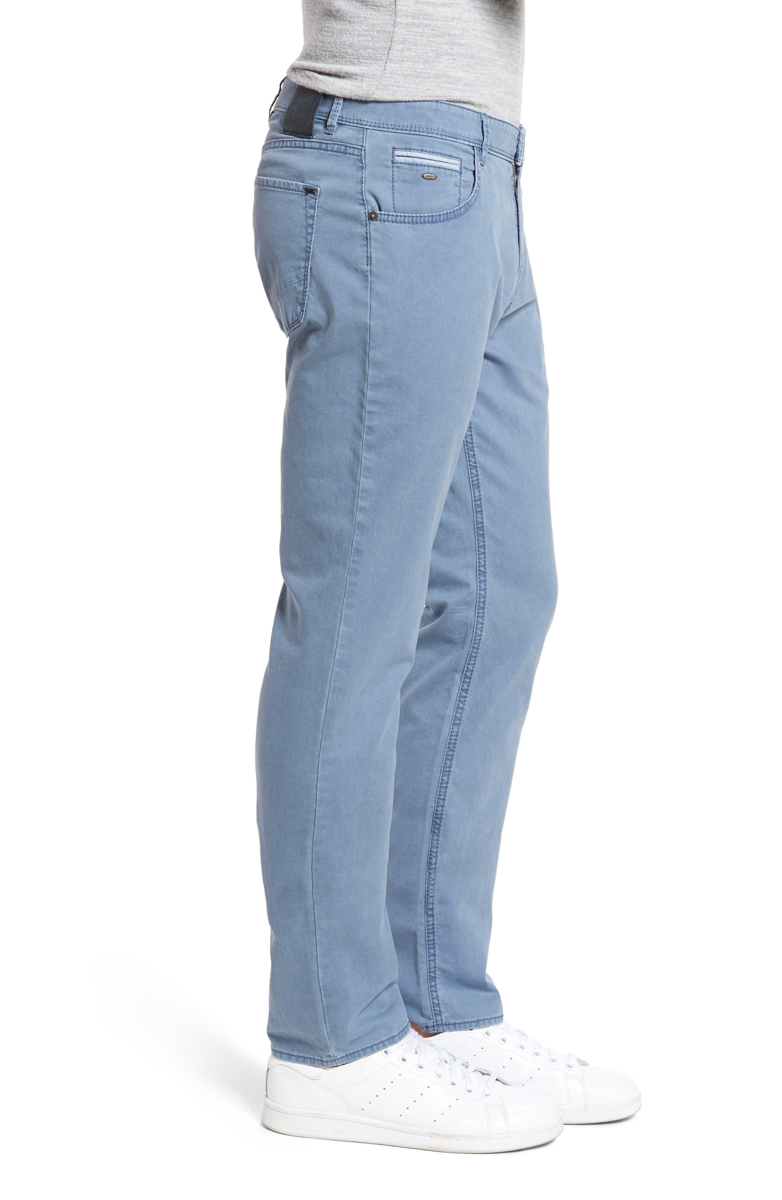 Chuck Flat Front Stretch Cotton Pants,                             Alternate thumbnail 3, color,                             Sky Blue