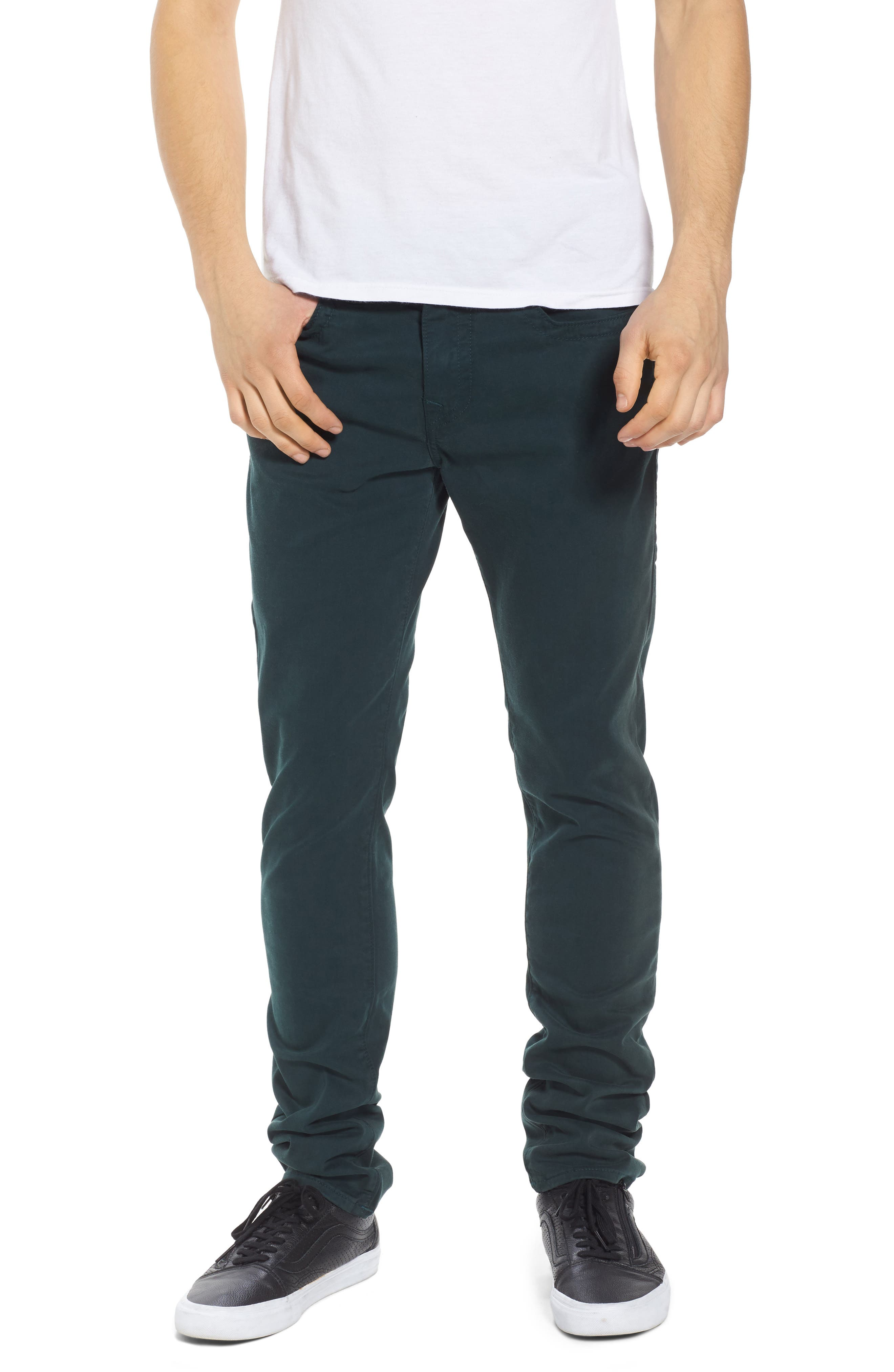 True Religion Brand Jeans Rocco Skinny Fit Jeans (Hunter Green)