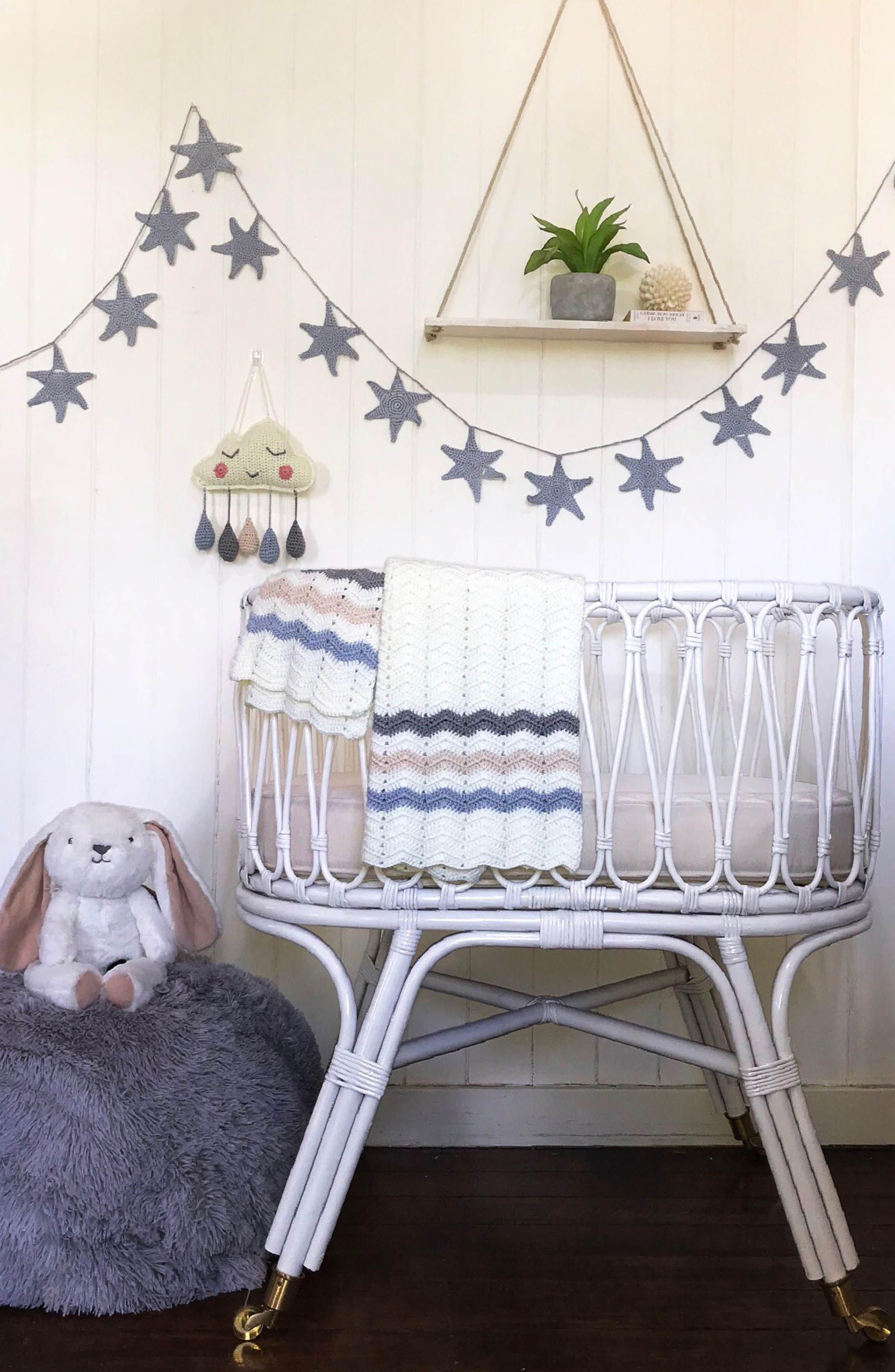 Ripple Crocheted Blanket,                             Alternate thumbnail 10, color,                             Blue