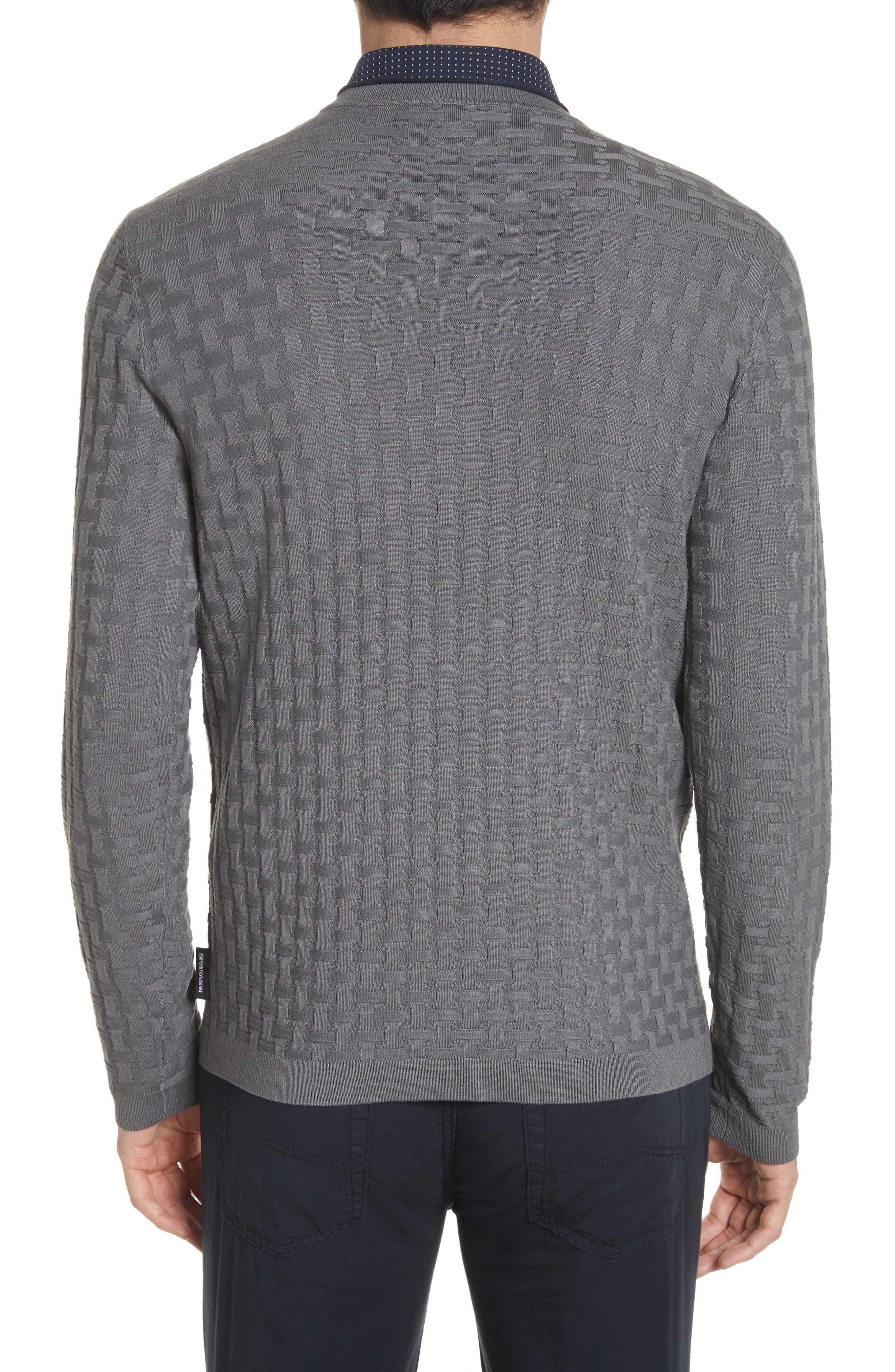 Alternate Image 2  - Emporio Armani Slim Fit Woven Links Sweater