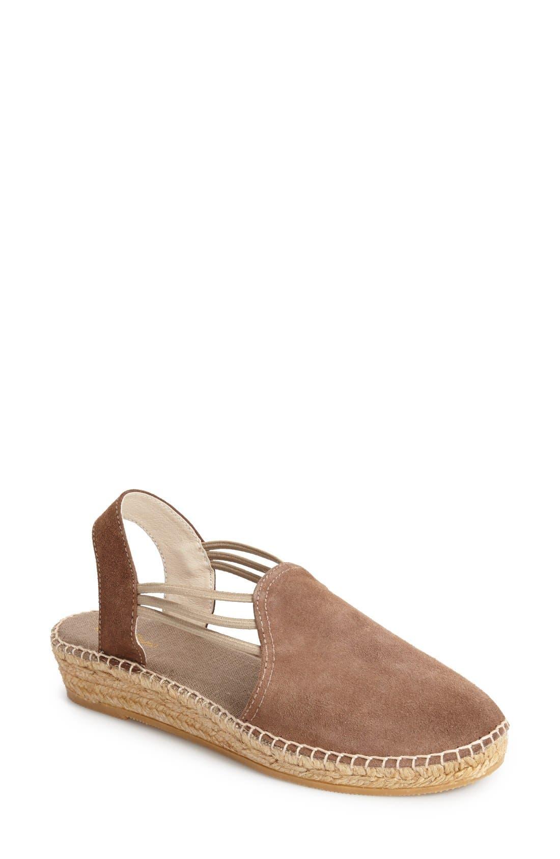 'Nuria' Suede Sandal,                         Main,                         color, Taupe