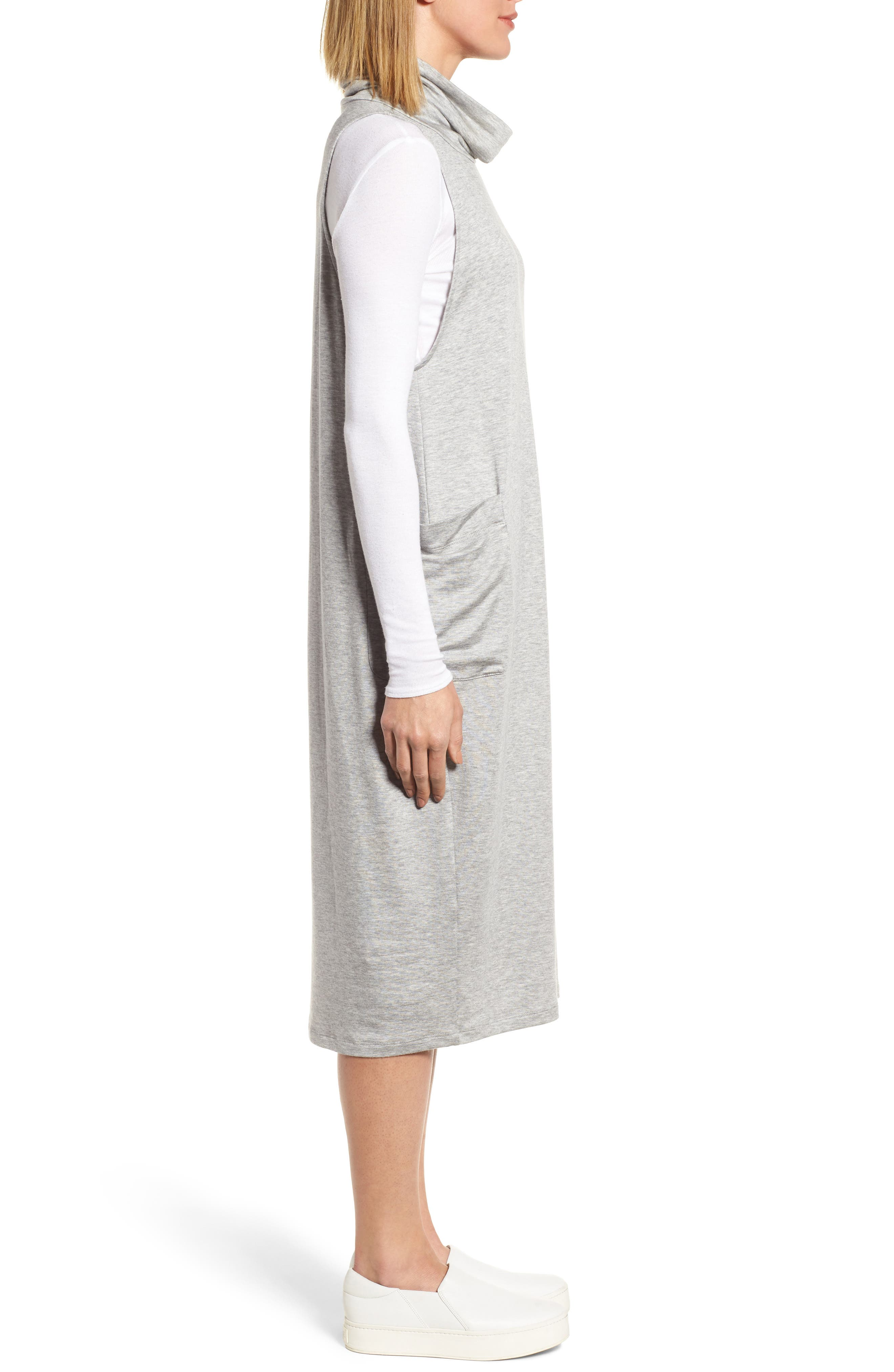 Stretch Tencel<sup>®</sup> Lyocell Knit Jumper Dress,                             Alternate thumbnail 5, color,                             Dark Pearl