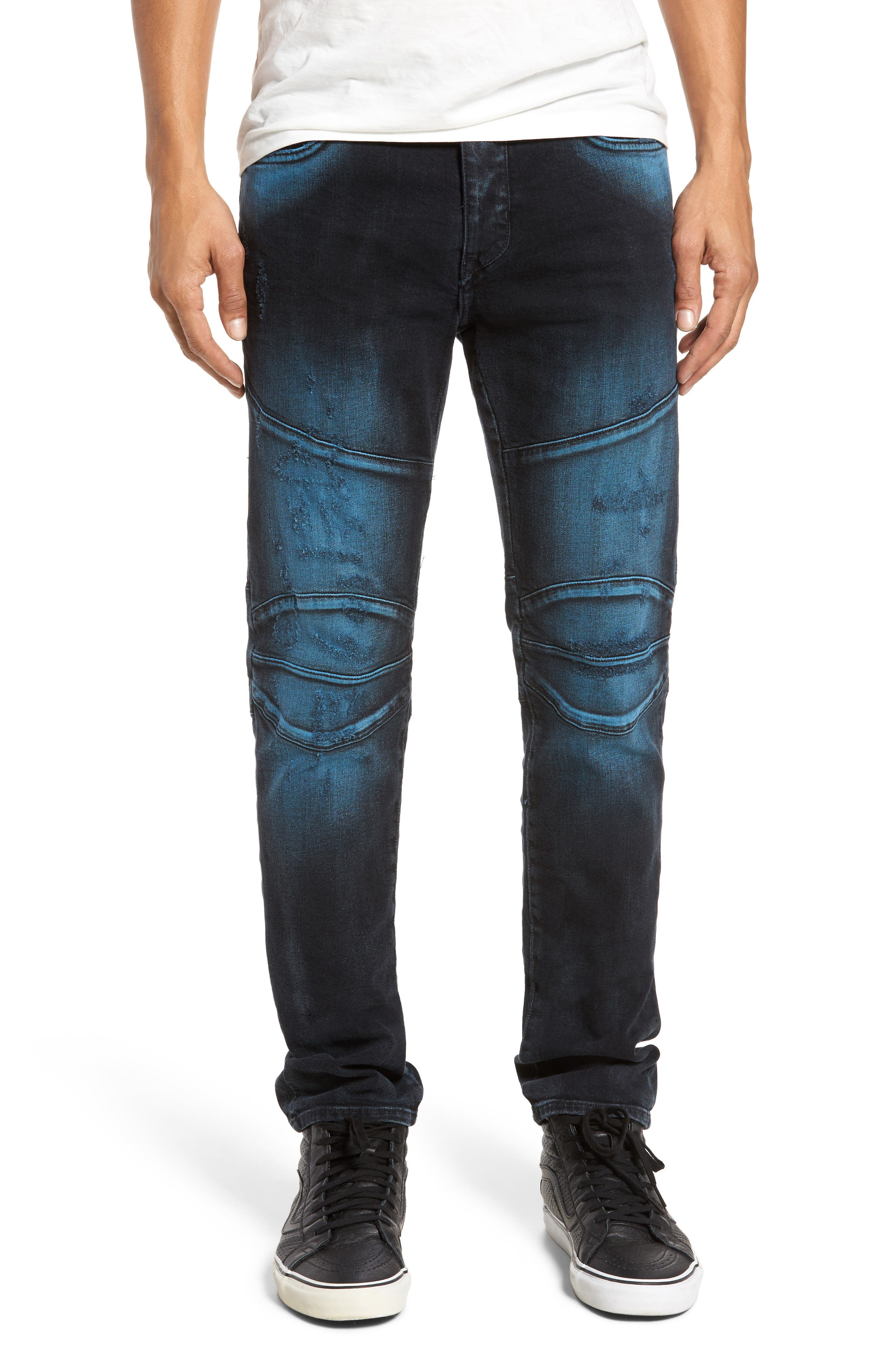 Rocco Skinny Fit Jeans,                             Main thumbnail 1, color,                             Blue Blaze