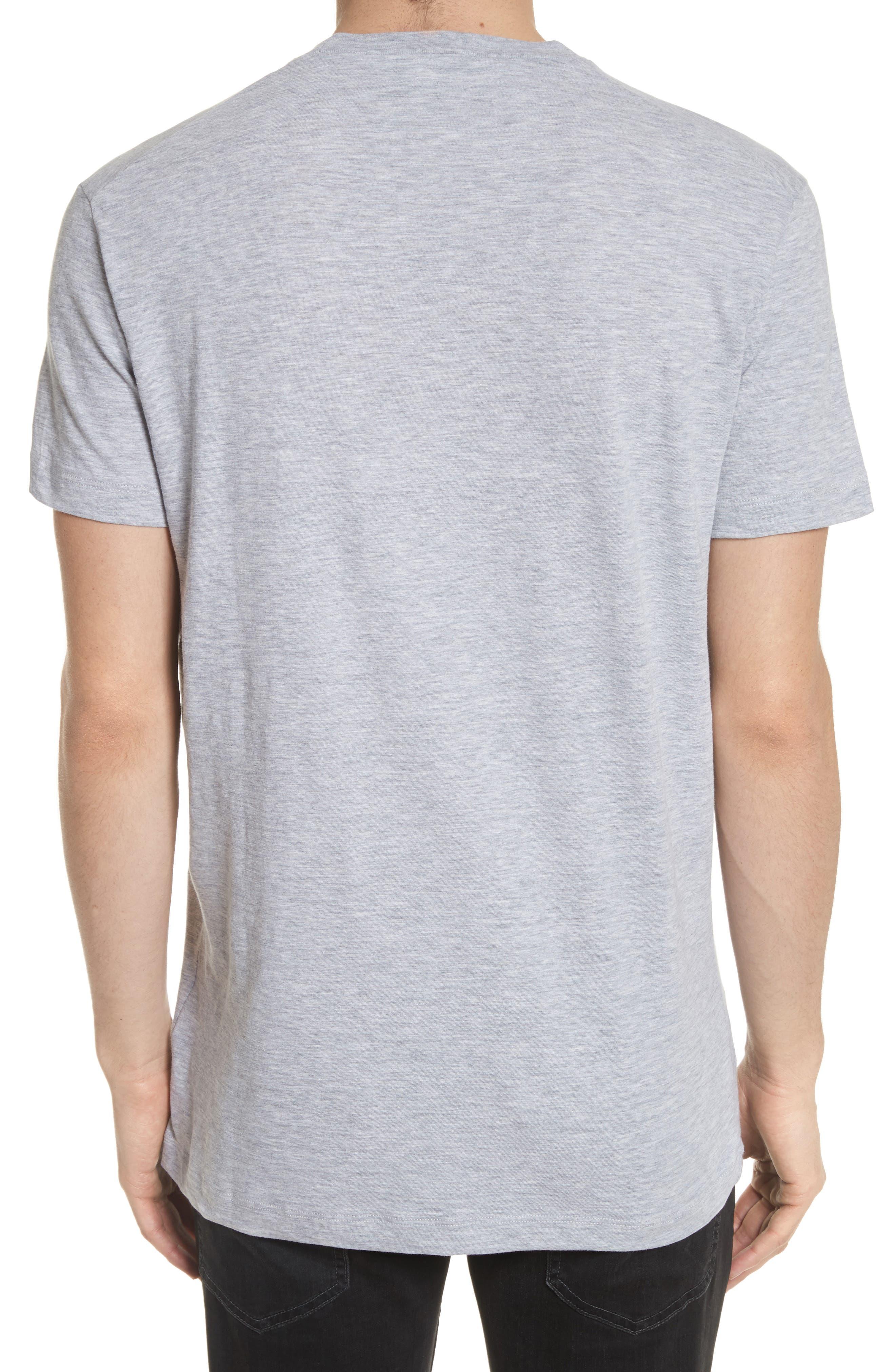 Dog Logo Graphic T-Shirt,                             Alternate thumbnail 2, color,                             Grey