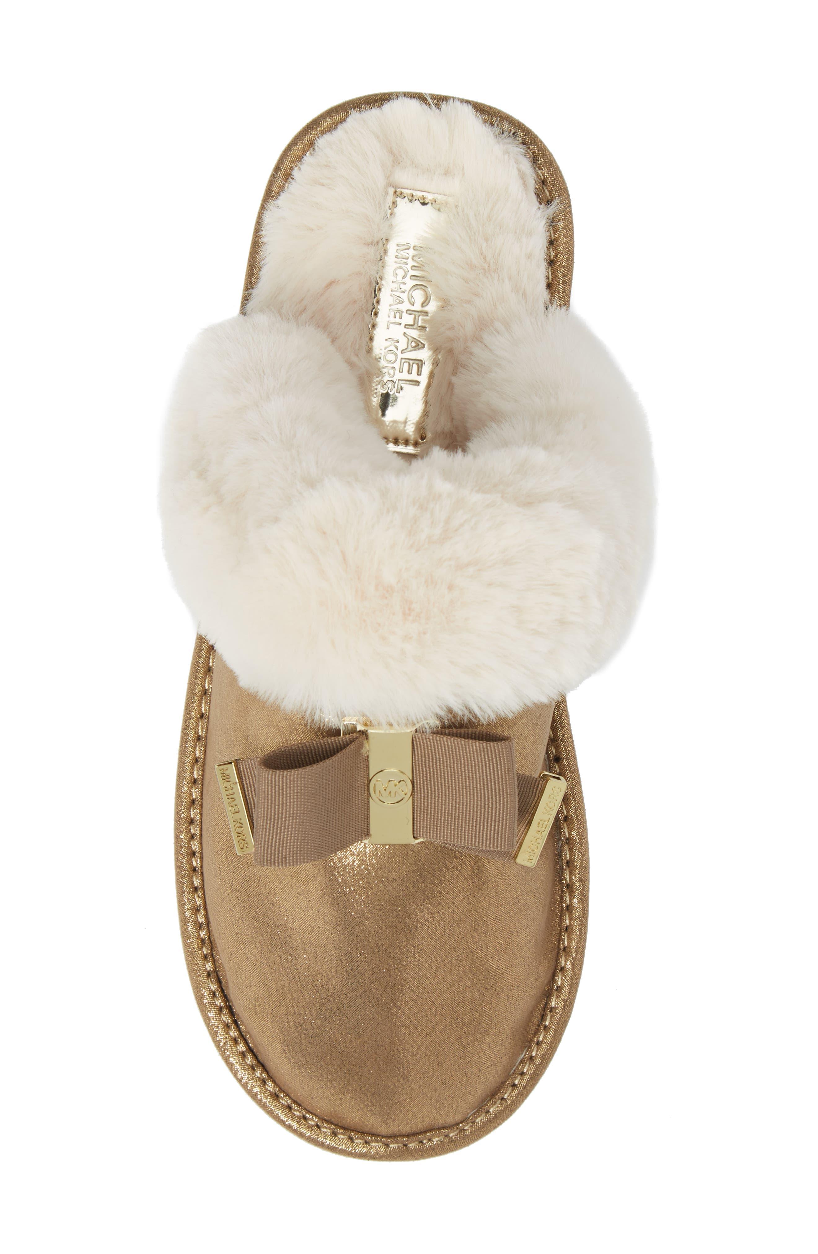 Alternate Image 5  - MICHAEL Michael Kors Grace Bow Faux Fur Lined Mule (Toddler, Little Kid & Big Kid)
