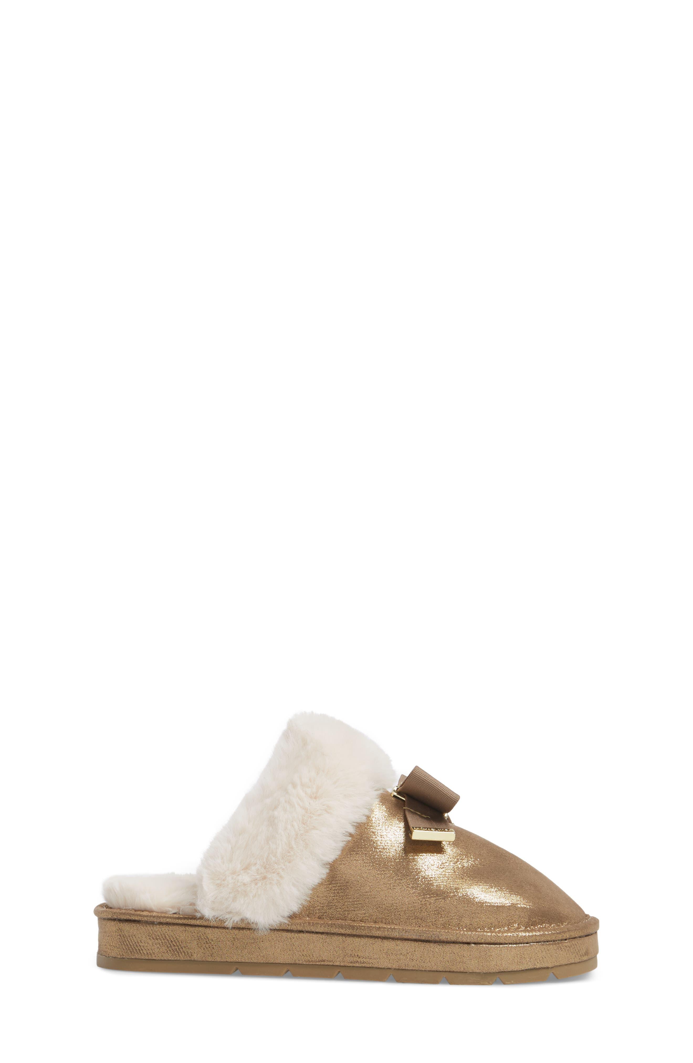 Alternate Image 3  - MICHAEL Michael Kors Grace Bow Faux Fur Lined Mule (Toddler, Little Kid & Big Kid)