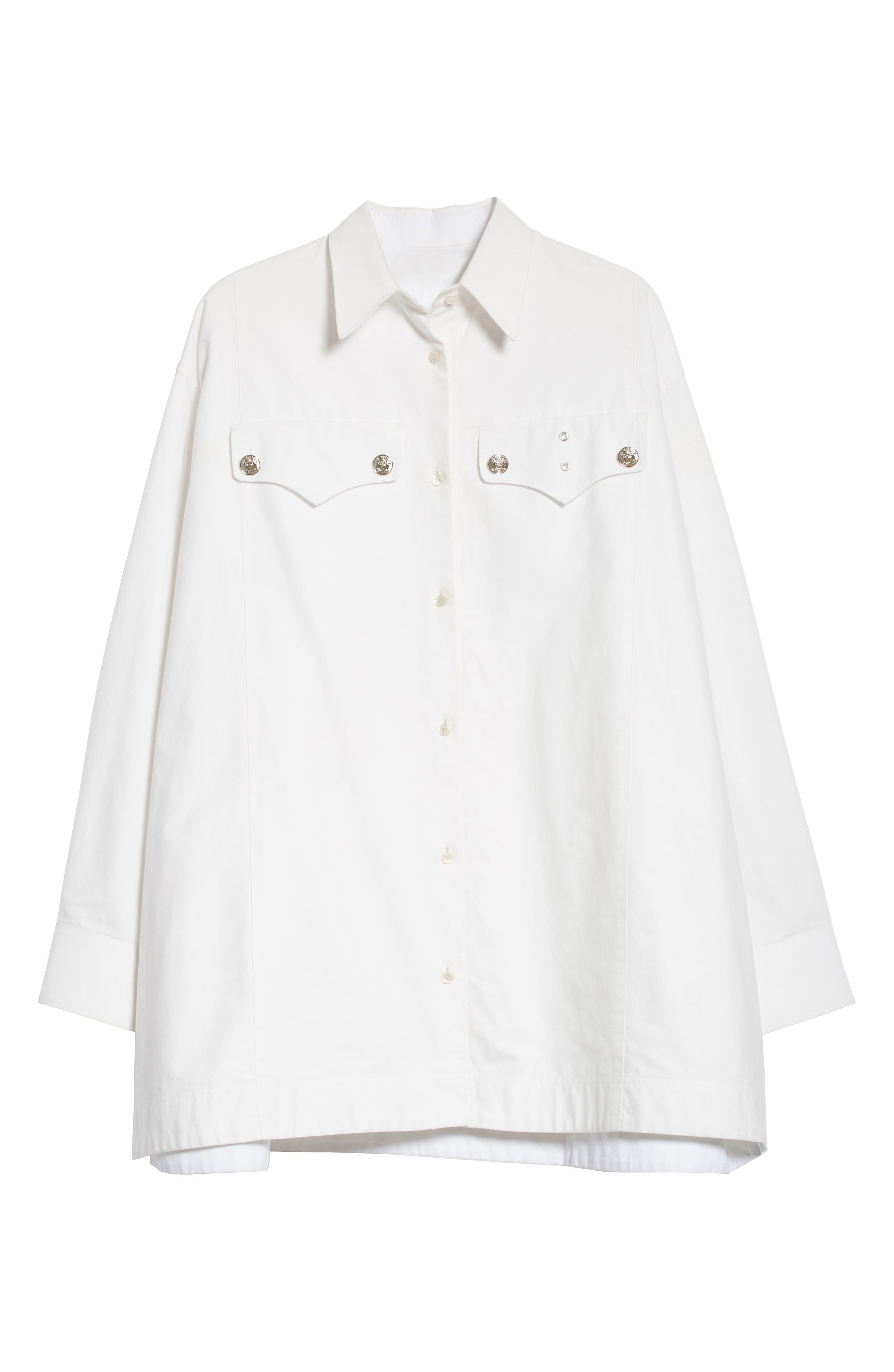 Alternate Image 7  - Calvin Klein 205W39NYC Oversize Policeman Shirt