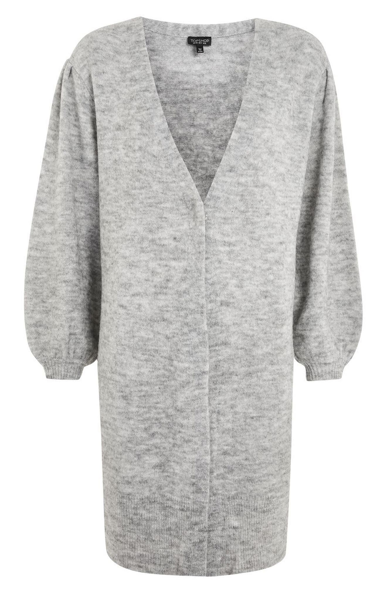 Alternate Image 5  - Topshop Balloon Sleeve Cardigan