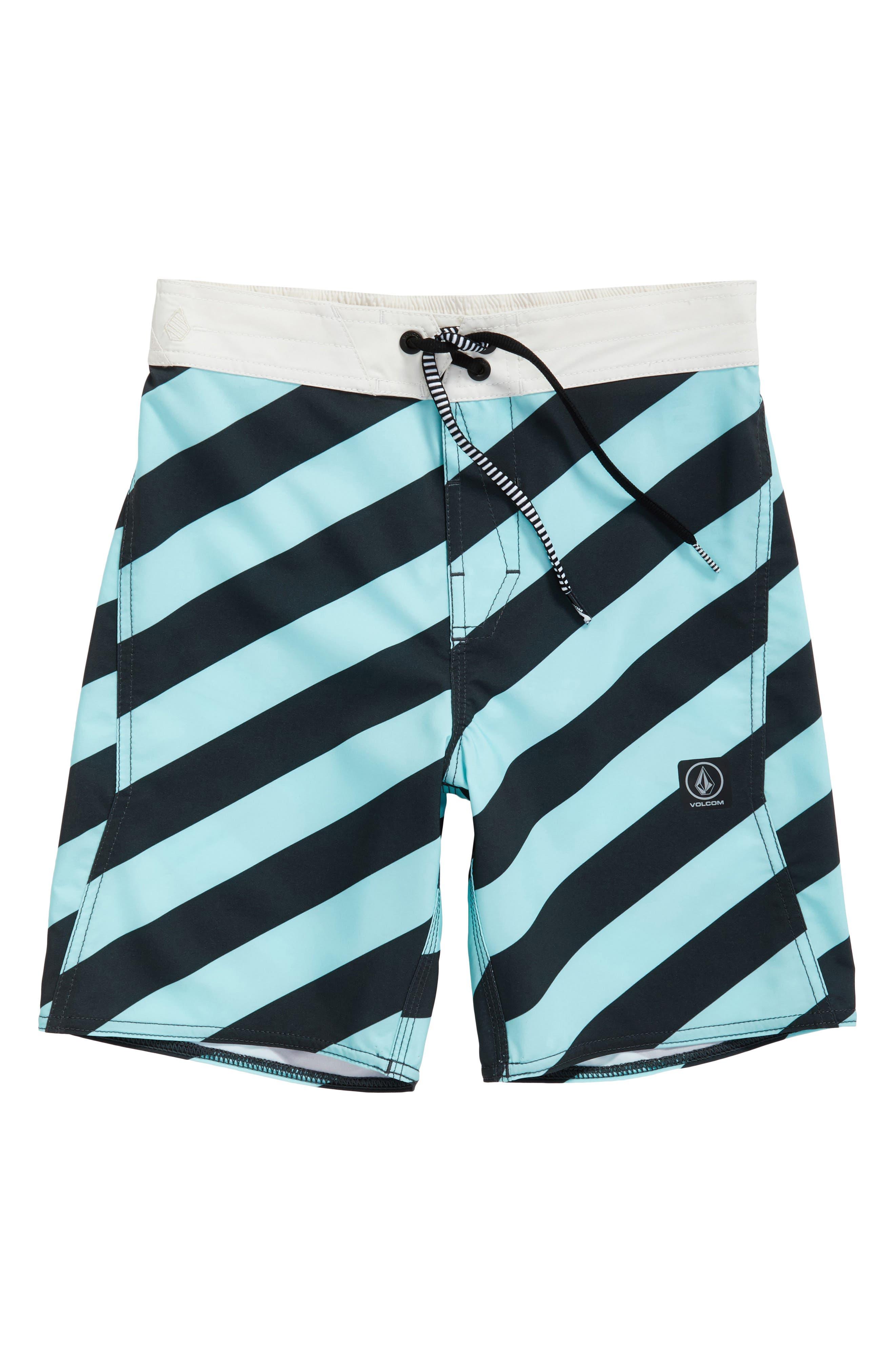 Alternate Image 1 Selected - Volcom Stripey Swim Trunks (Big Boys)